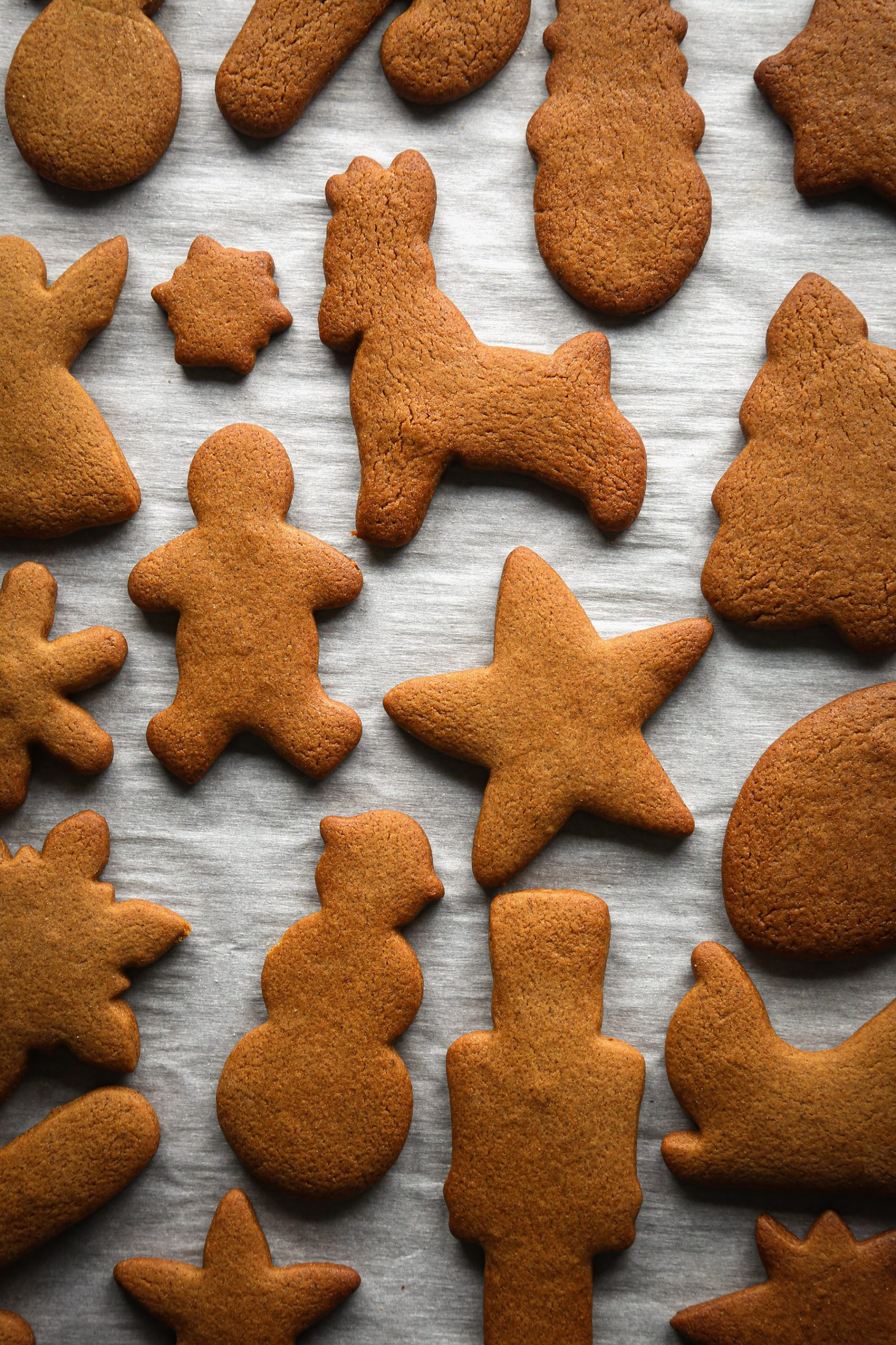 Gingerbread Cut-Out Cookies | Vegan friendly with gluten free and refined sugar free options.