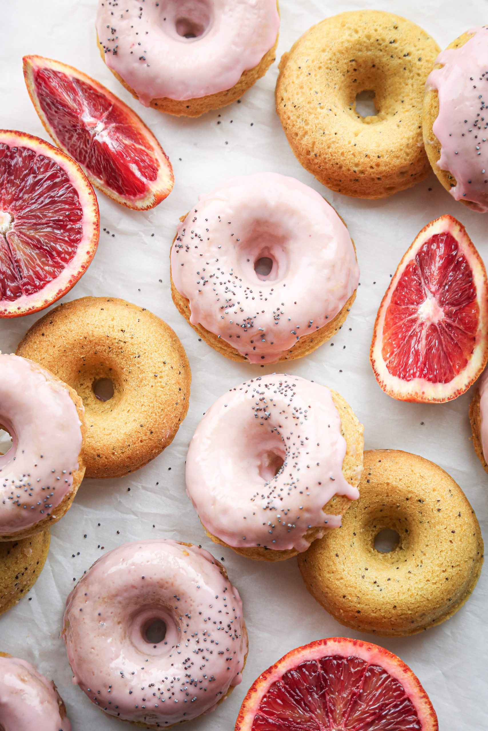 Blood Orange Poppy Seed Donuts | Vegan and gluten-free option included!