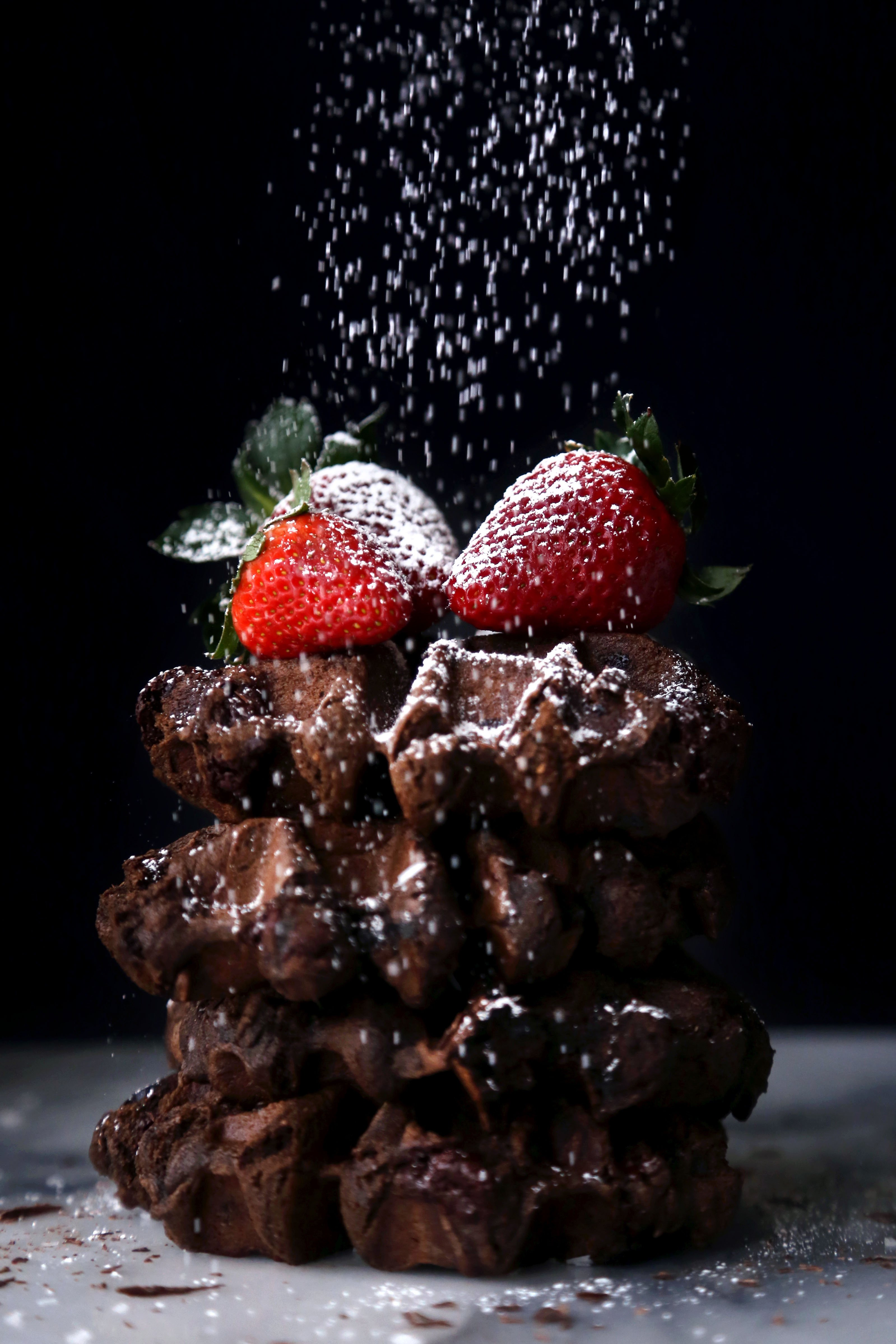Double Chocolate Mochi Waffles | Free of gluten, dairy, and refined sugar | Wife Mama Foodie