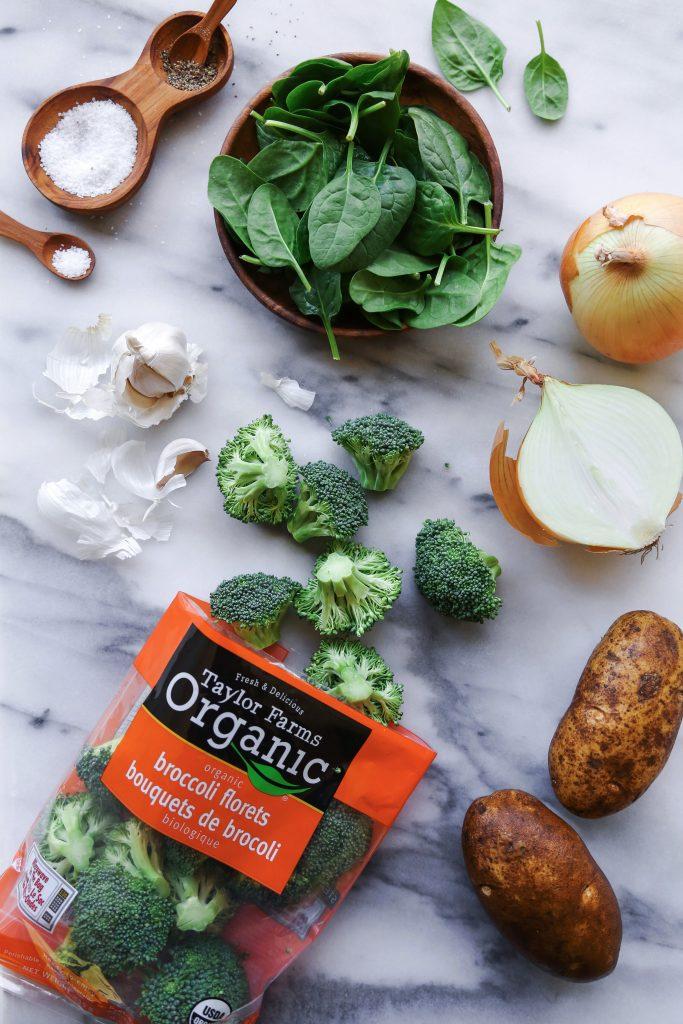 Creamed Broccoli & Spinach Soup   Free of gluten, grains, & dairy   Vegan & Paleo Friendly