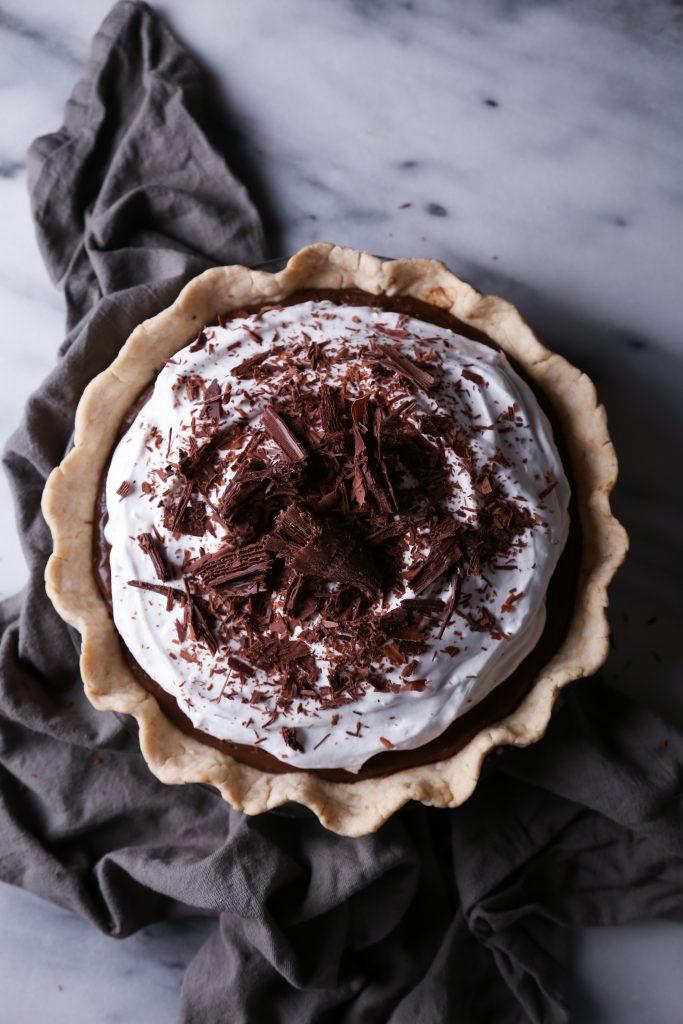 Chocolate Pudding Pie | Gluten, dairy, and refined sugar free.