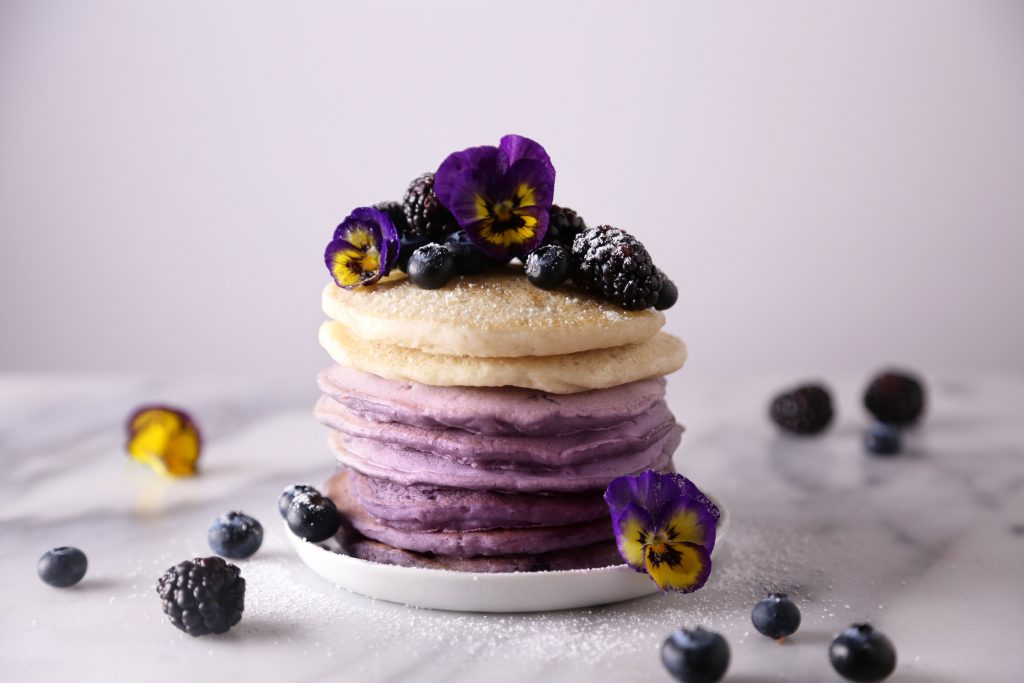 Ombré Berry Pancakes   Free of dairy and refined sugar with a gluten-free variation. Vegan friendly.