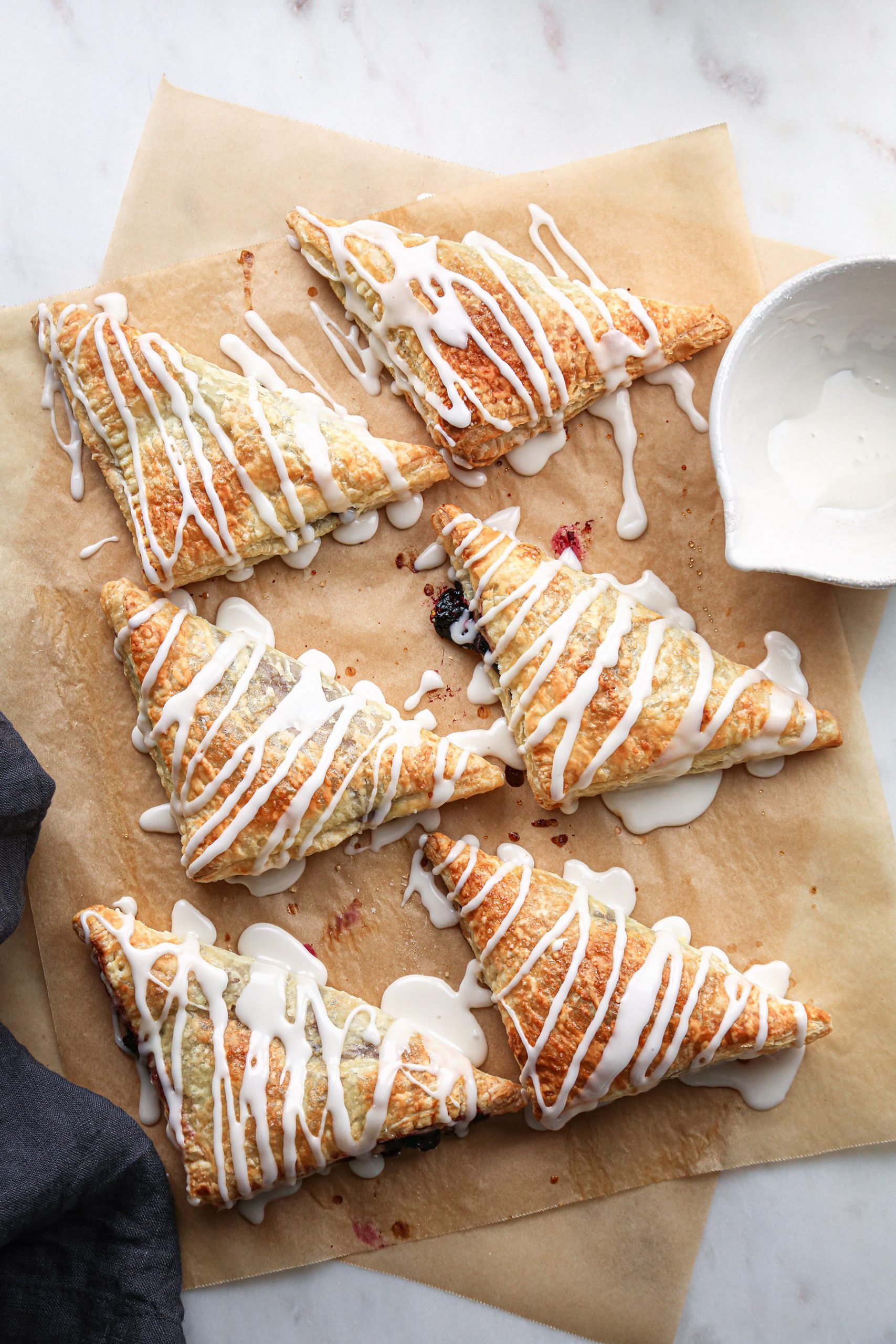 Easy Berry Turnovers | Free of dairy and refined sugar + vegan friendly
