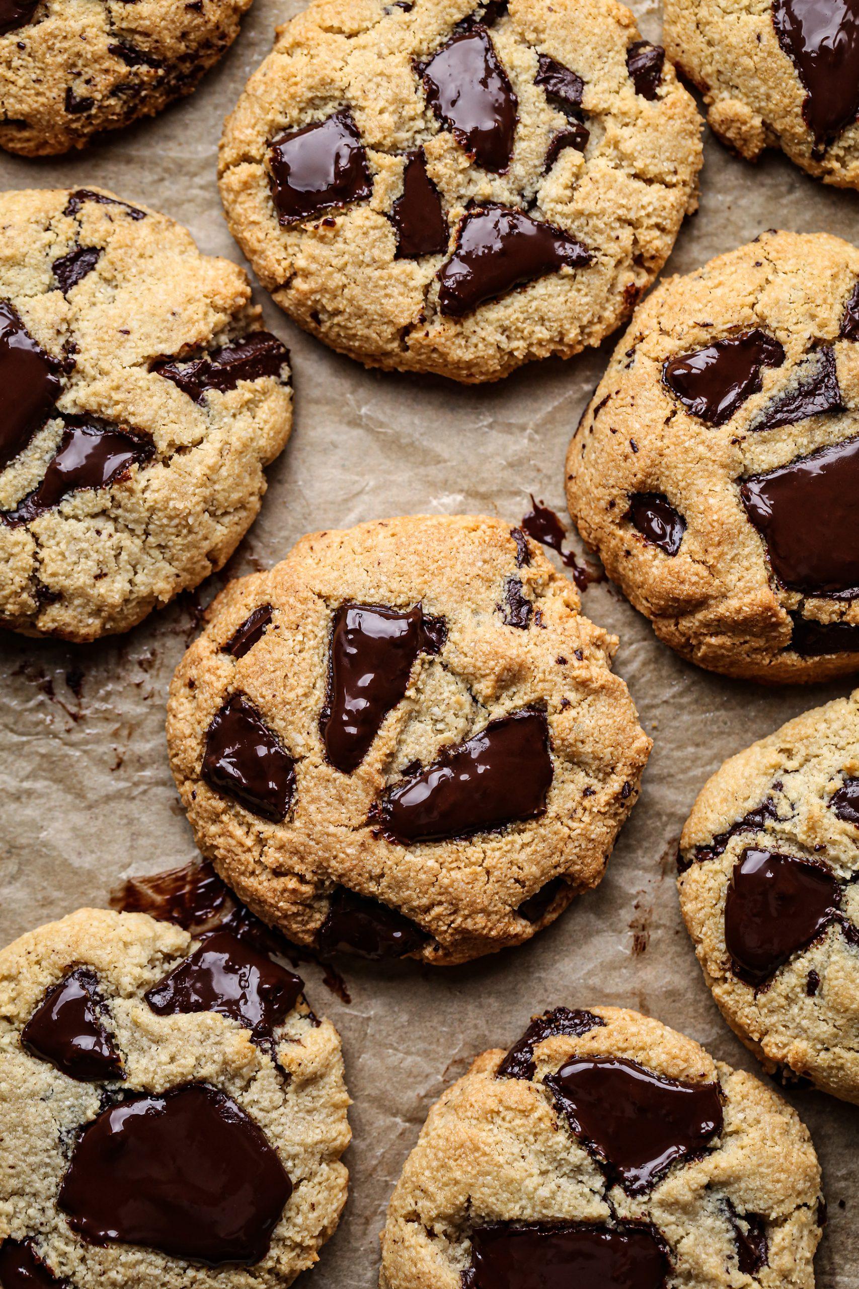 Paleo and Vegan Chocolate Chip Cookies