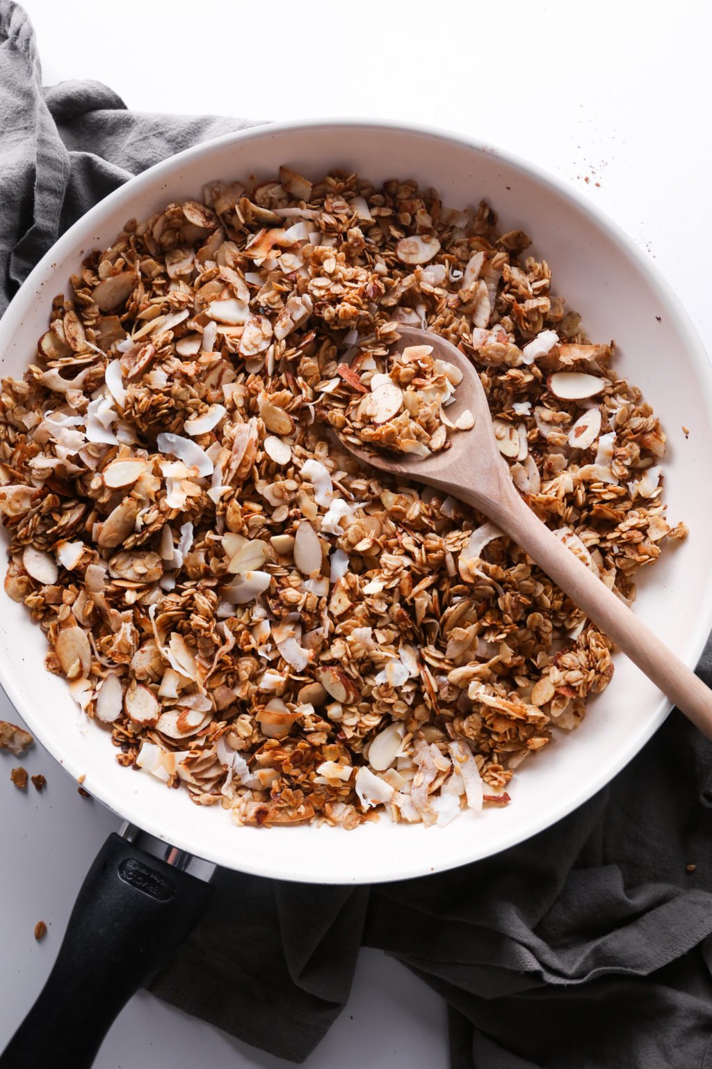 5-Minute Skillet Granola | Gluten, dairy, and refined sugar free.