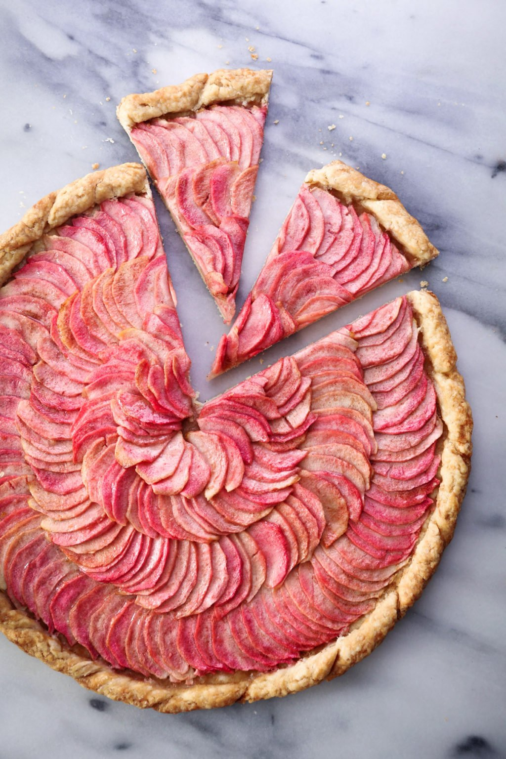 Simple Apple Galette | Dairy & refined sugar free with a gluten-free option and vegan friendly!
