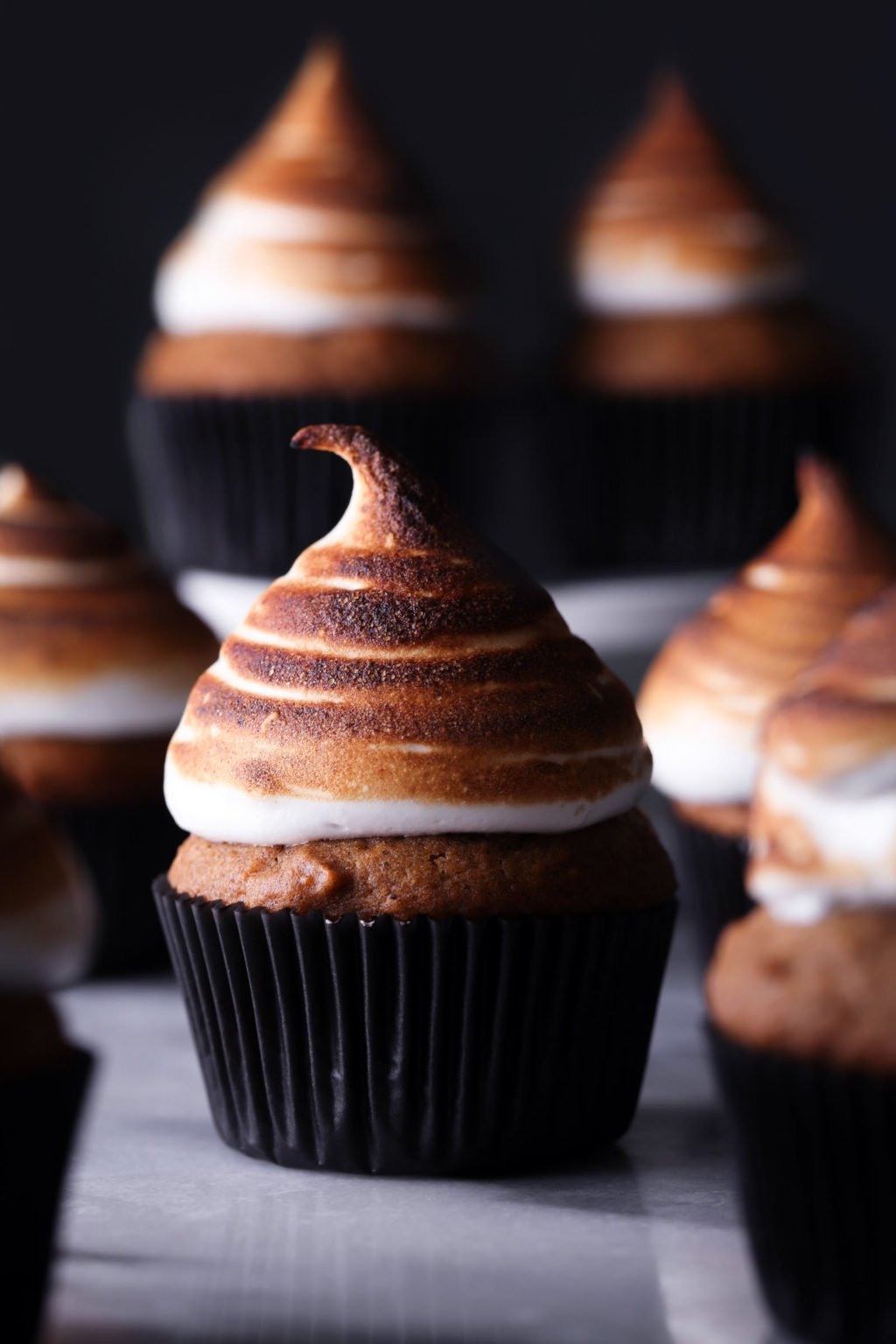 Sweet Potato Cupcakes with Toasted Marshmallow Meringue | Wife Mama Foodie