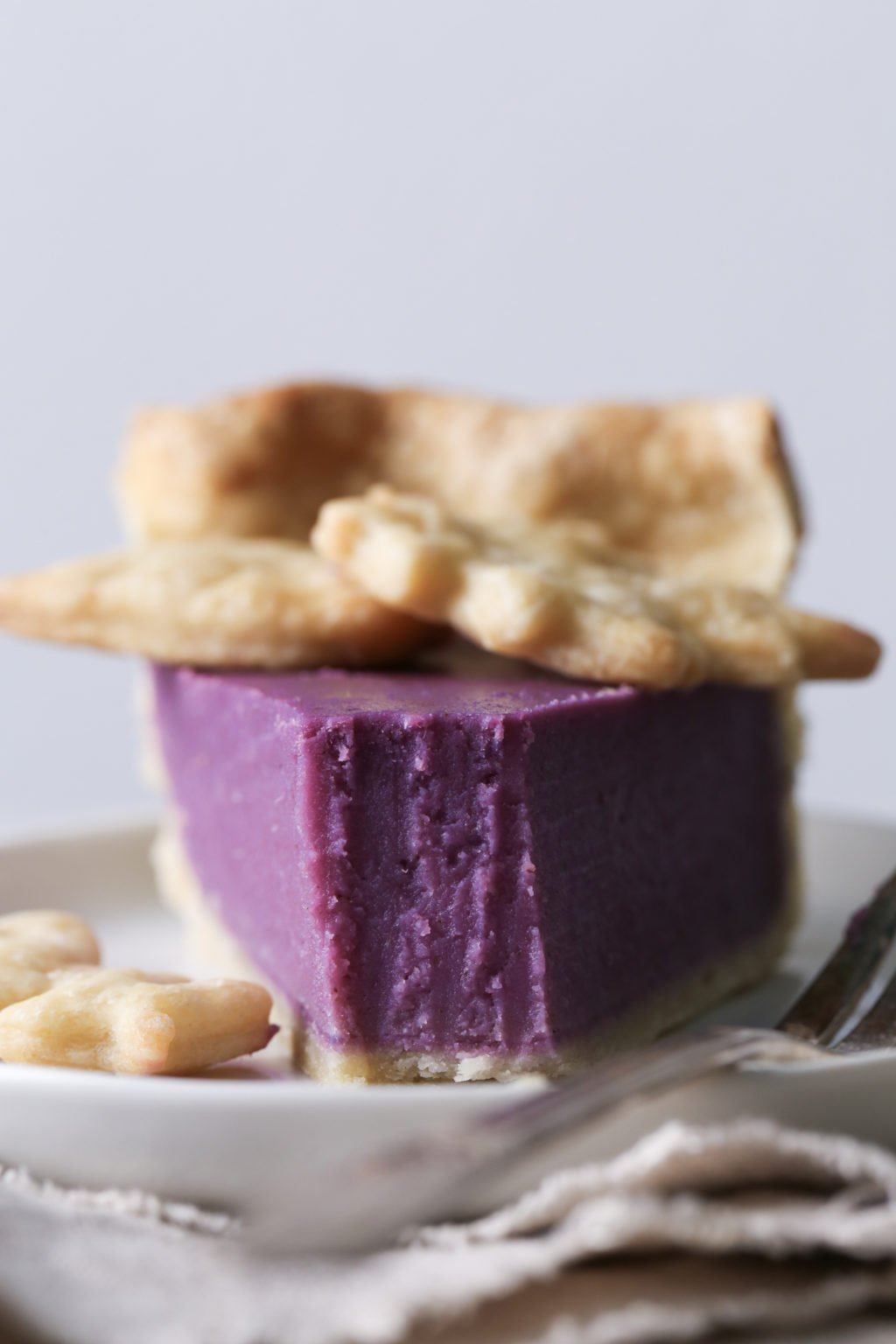 Vegan Sweet Potato Pie with Purple Sweet Potatoes | Wife Mama Foodie