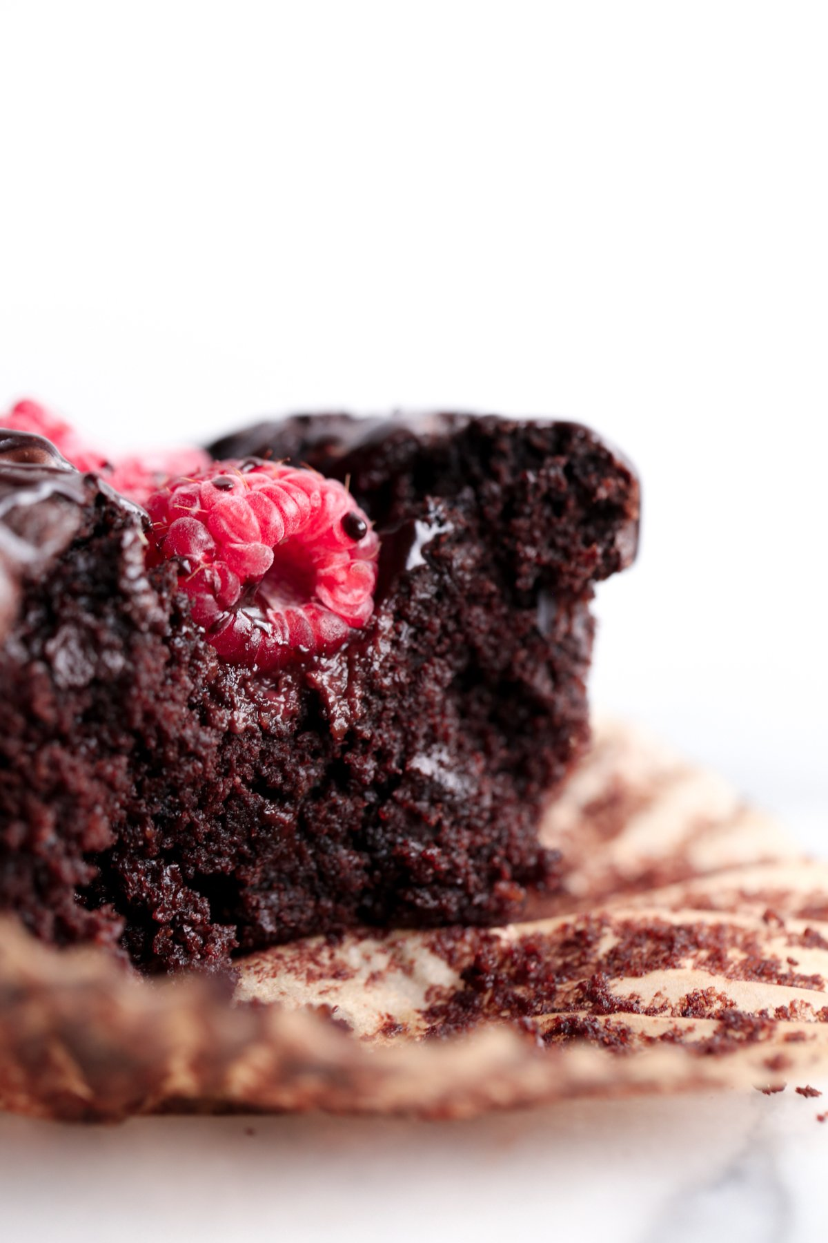 Double Chocolate Raspberry Muffins | Vegan and refined sugar free with gluten free option