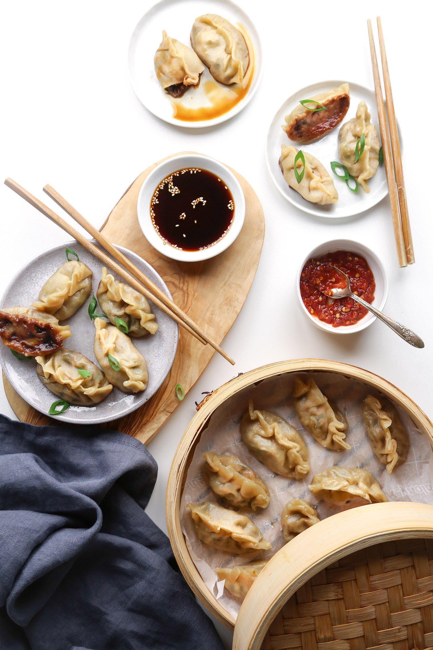 Simple Vegetable Dumplings | Vegan friendly with GF option | Wife Mama Foodie