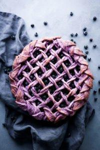 Blueberry Pie with Purple Berry Crust