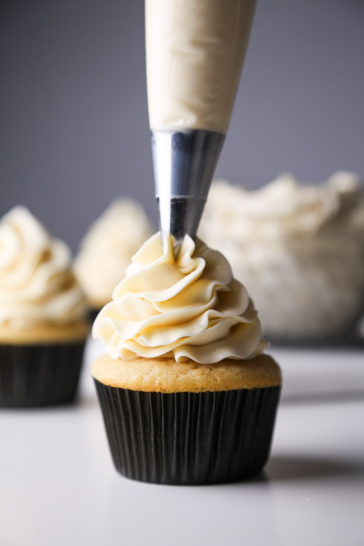 Lightly Sweetened Vanilla Buttercream | Wife Mama Foodie