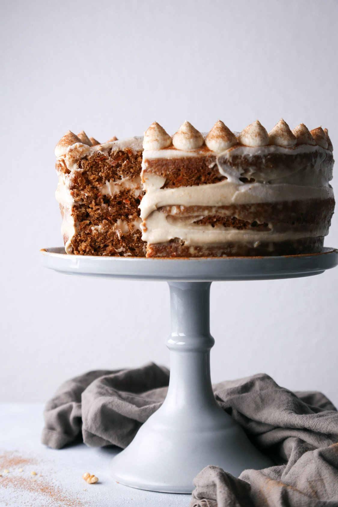 Simple Carrot Cake with Cashew Frosting