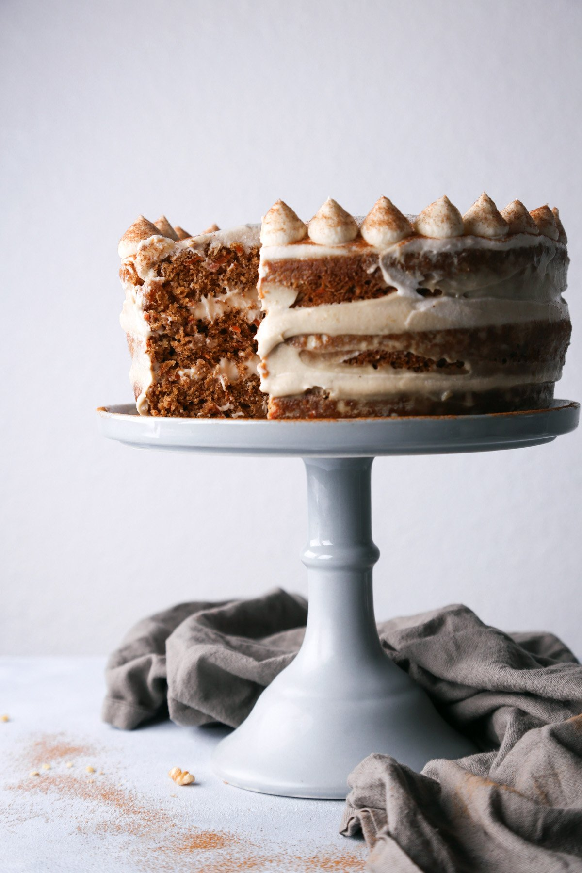 Carrot Cake | Vegan with GF option.