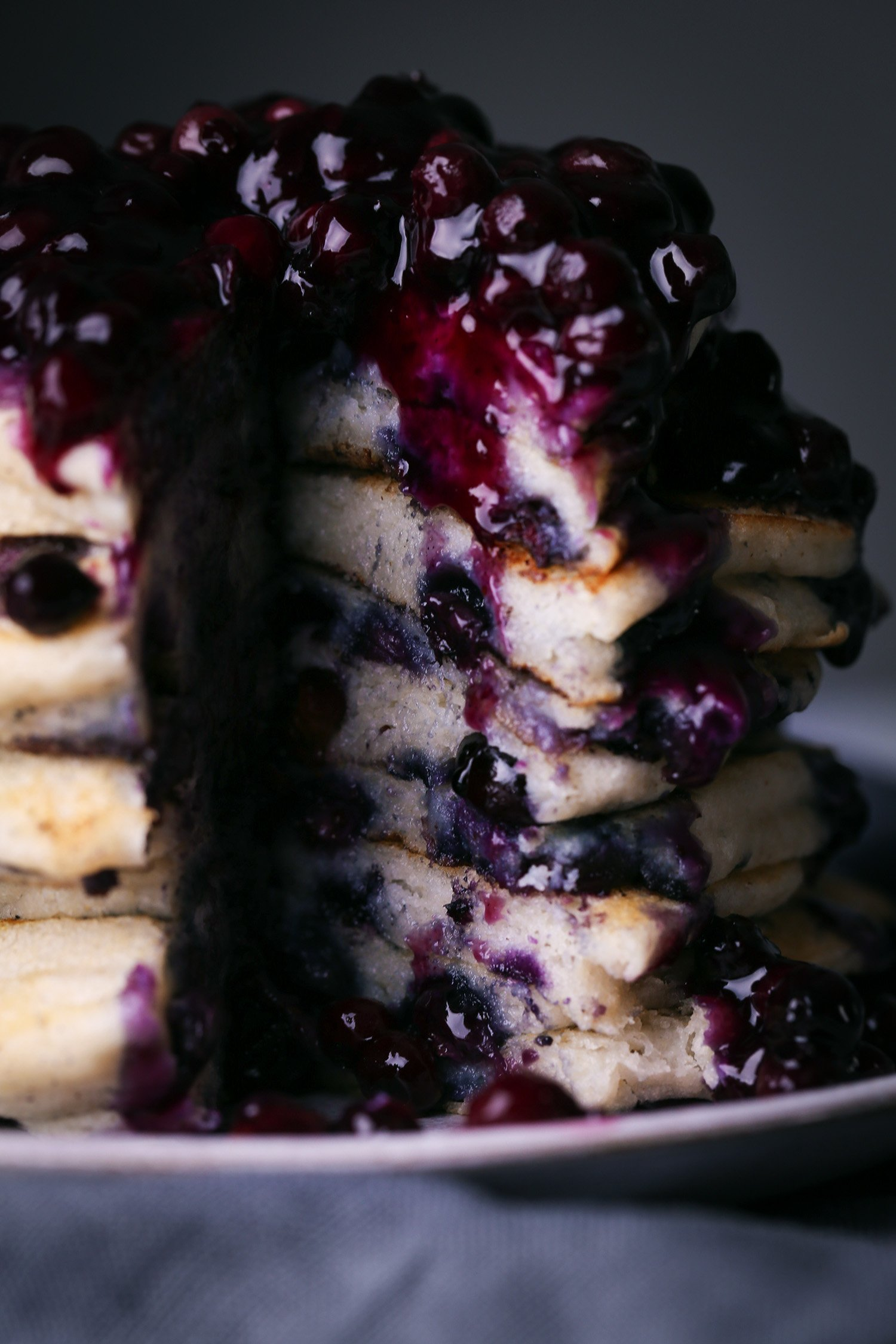 Simple Blueberry Pancakes with Blueberry Sauce | Vegan friendly with Gluten-free option
