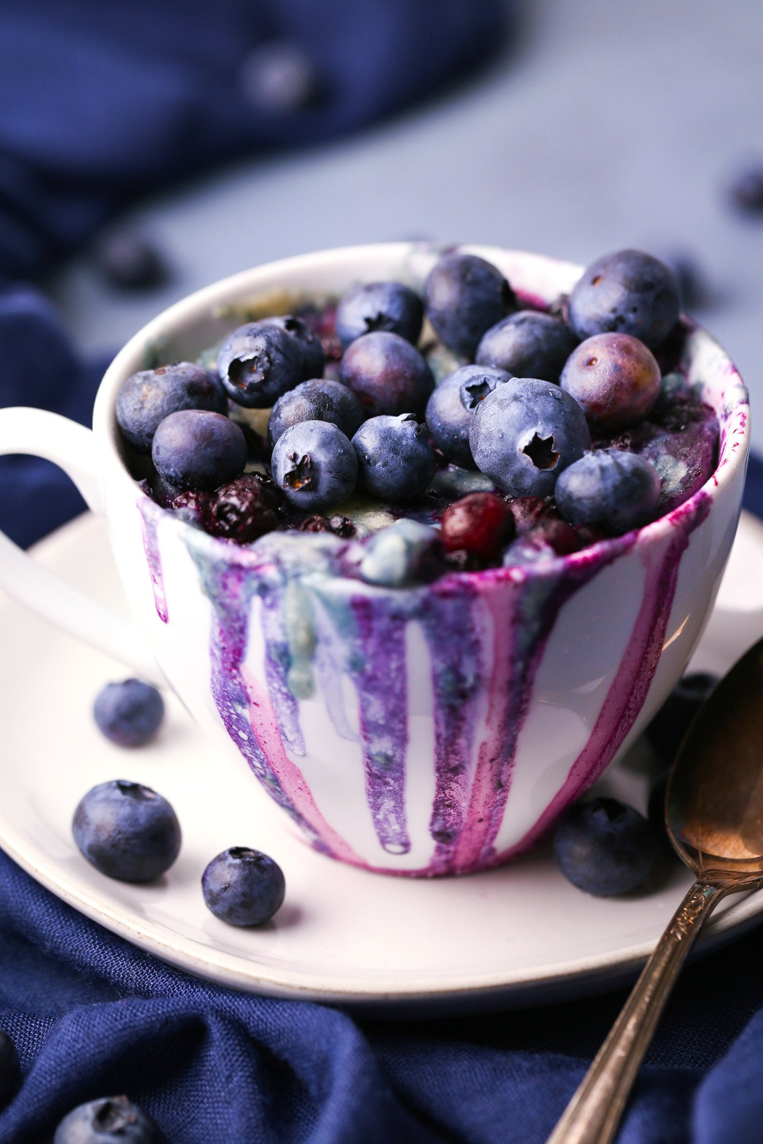 Blueberry Muffin Mug Cake | Vegan Friendly with Gluten-Free Alternative | Wife Mama Foodie