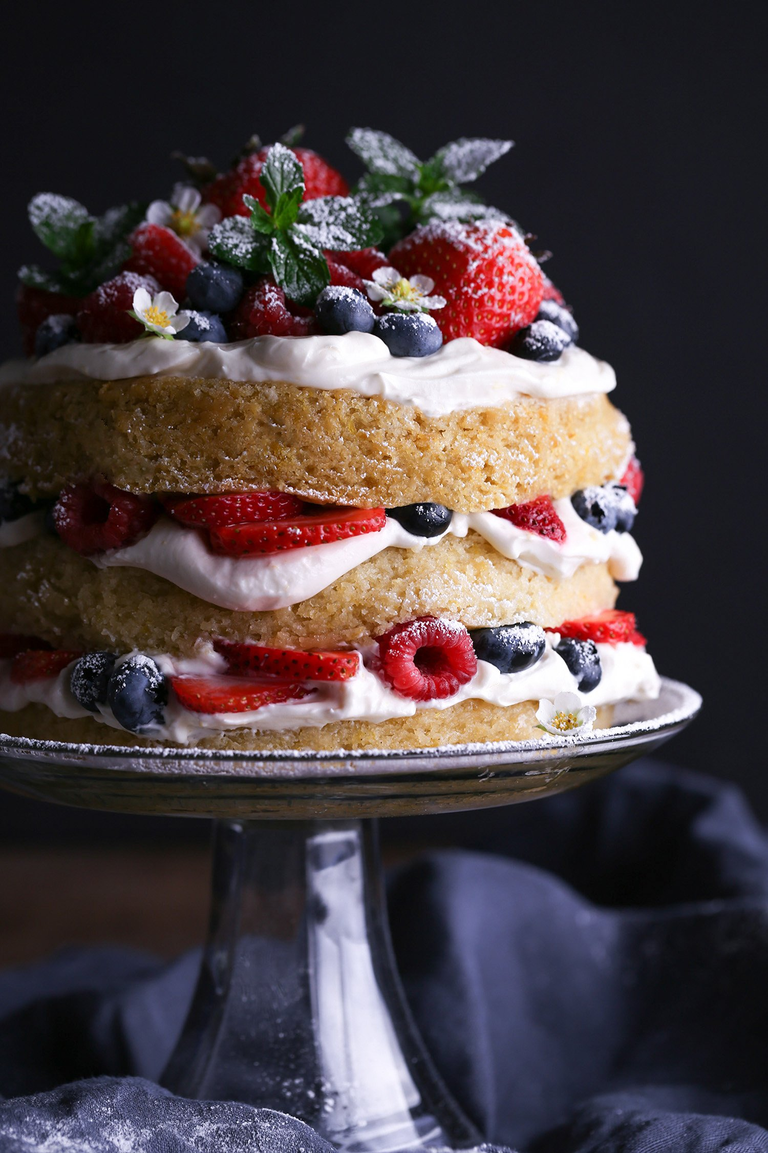 Vegan Lemon Cake with Fresh Berries | Wife Mama Foodie