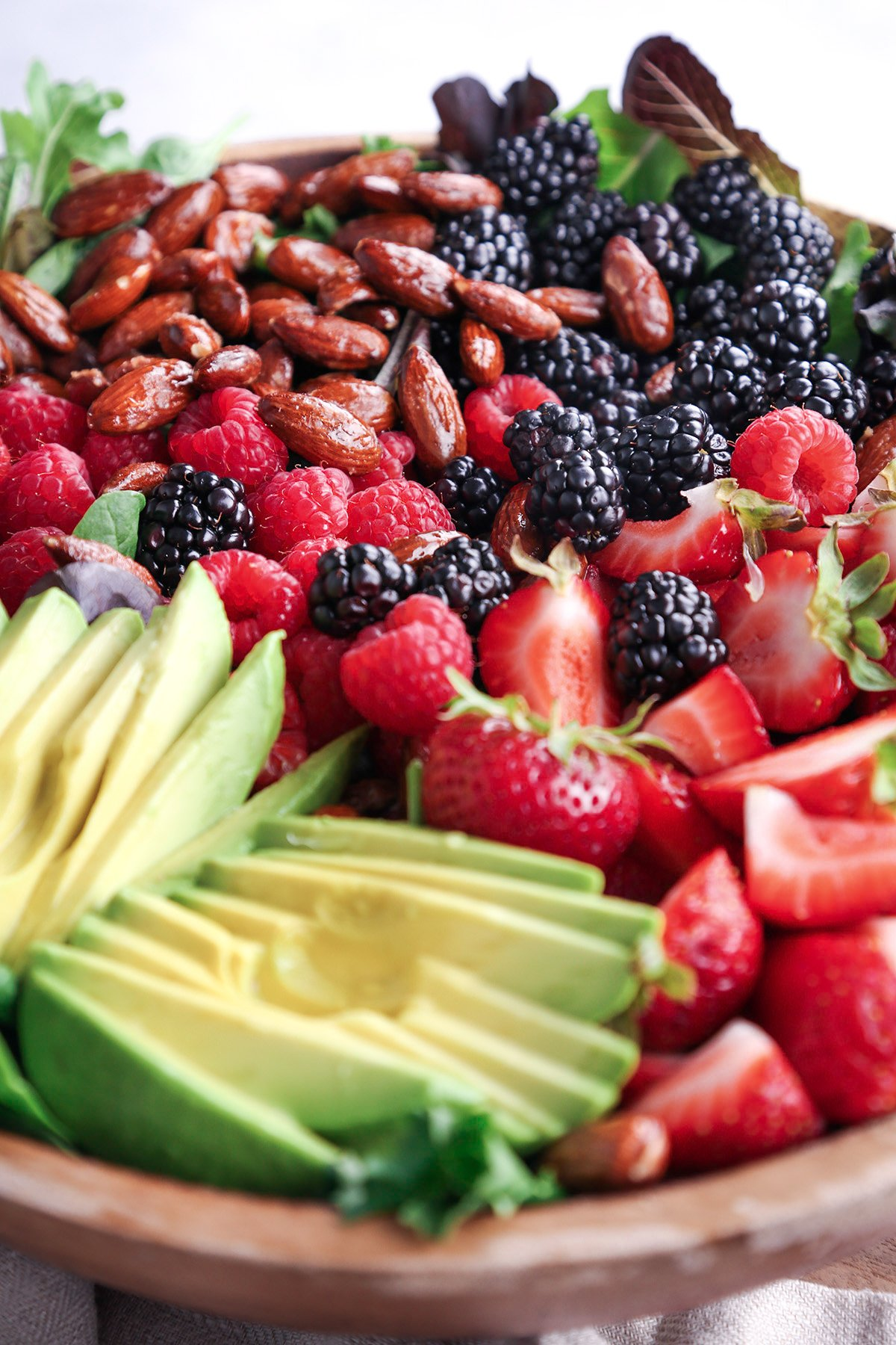 Mixed Berry and Avocado Salad with Poppyseed Dressing   Wife Mama Foodie