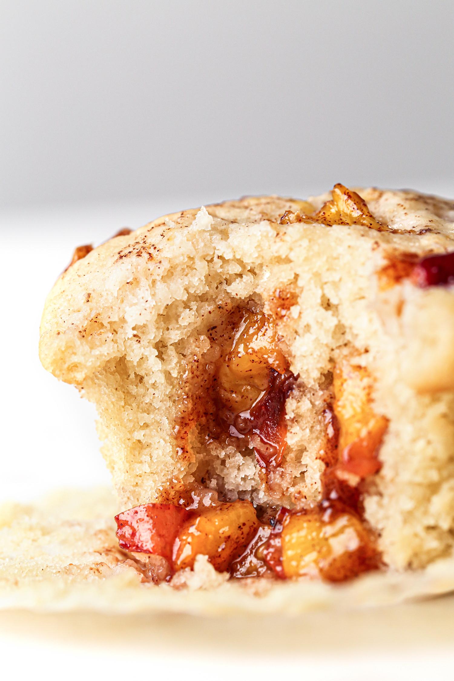 Peach Cobbler Muffins Bite