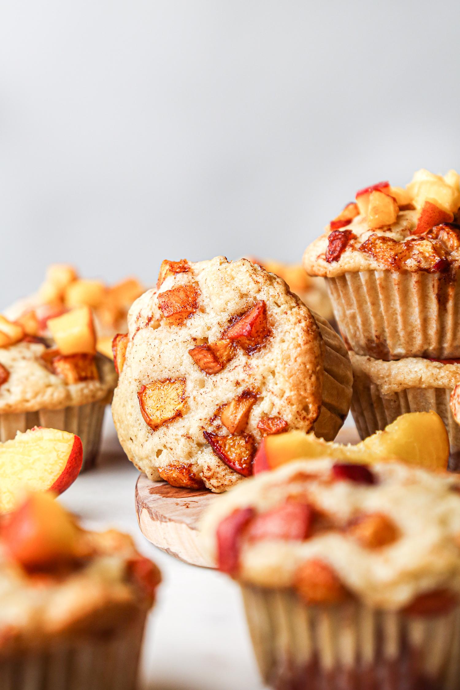 Peach Cobbler Muffins Front