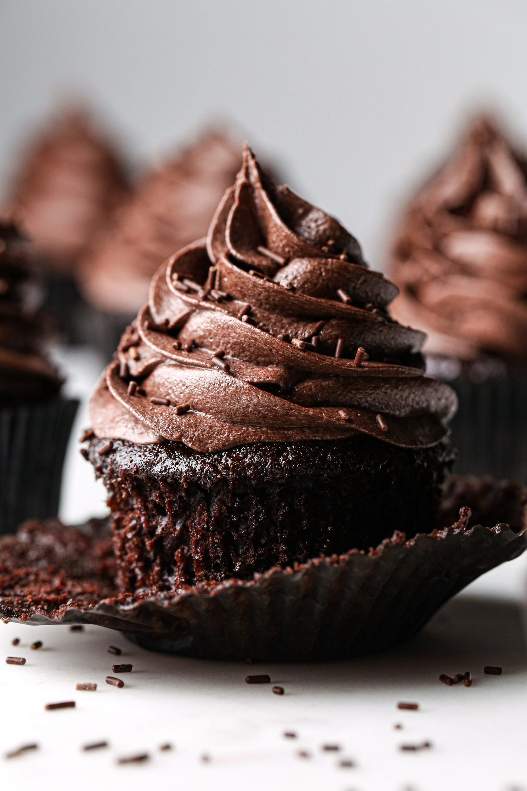 Simple Chocolate Cupcakes | Vegan friendly with gluten free option