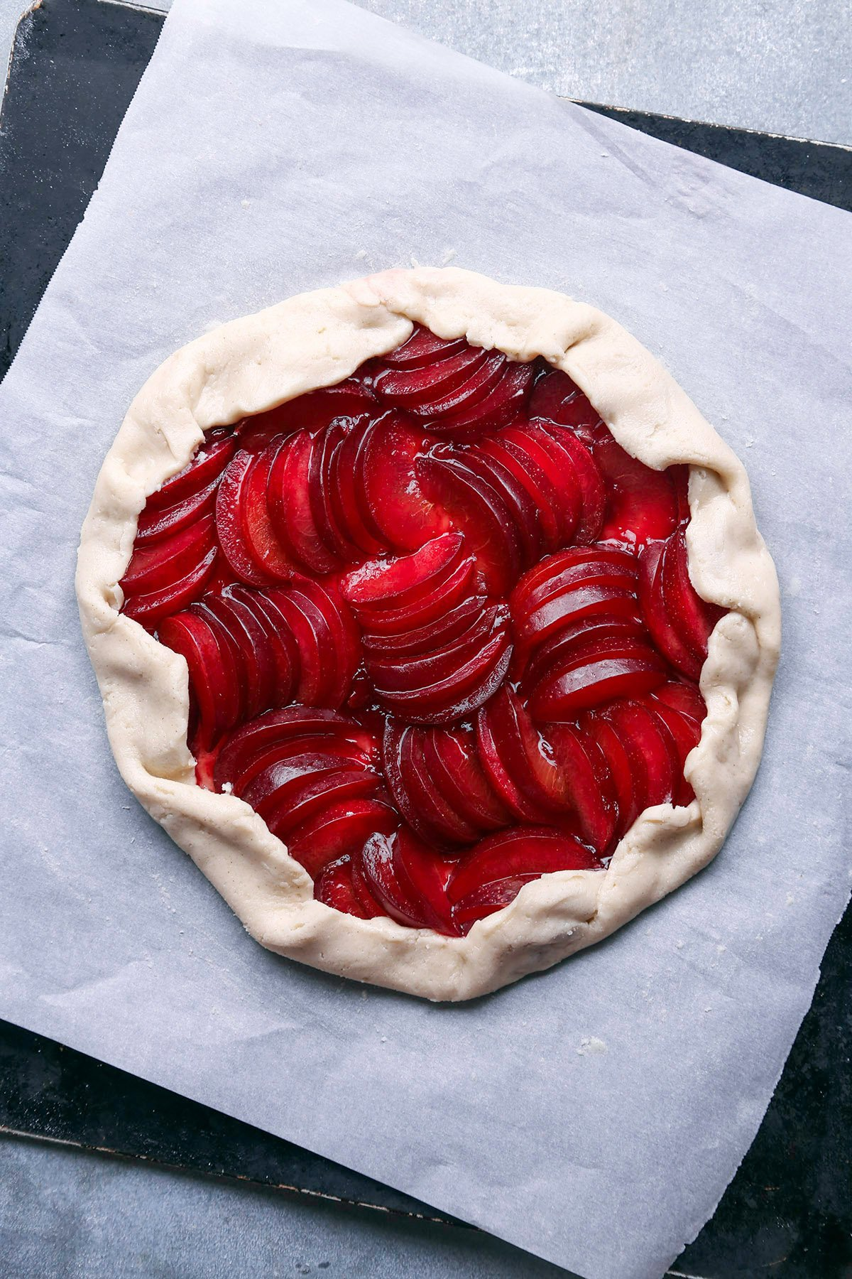 Rustic Plum Tart | Gluten Free and Vegan Friendly