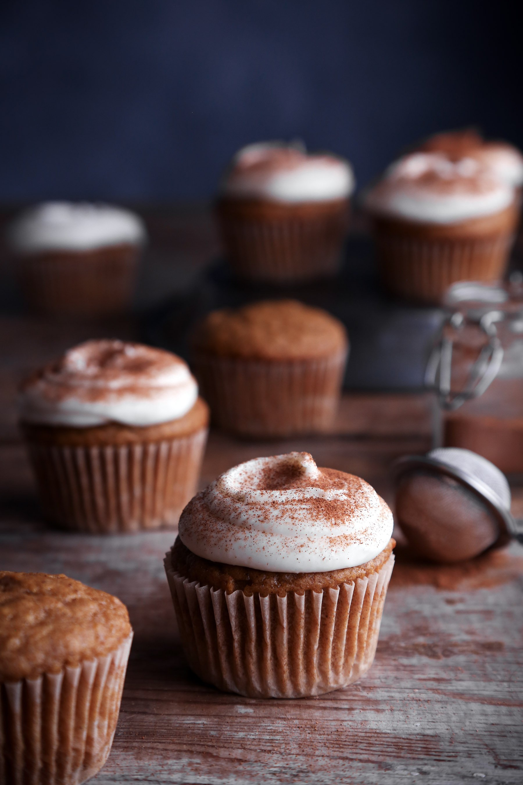 Pumpkin Cupcakes with Cream Cheese Frosting | Vegan Friendly with Gluten Free Alternative