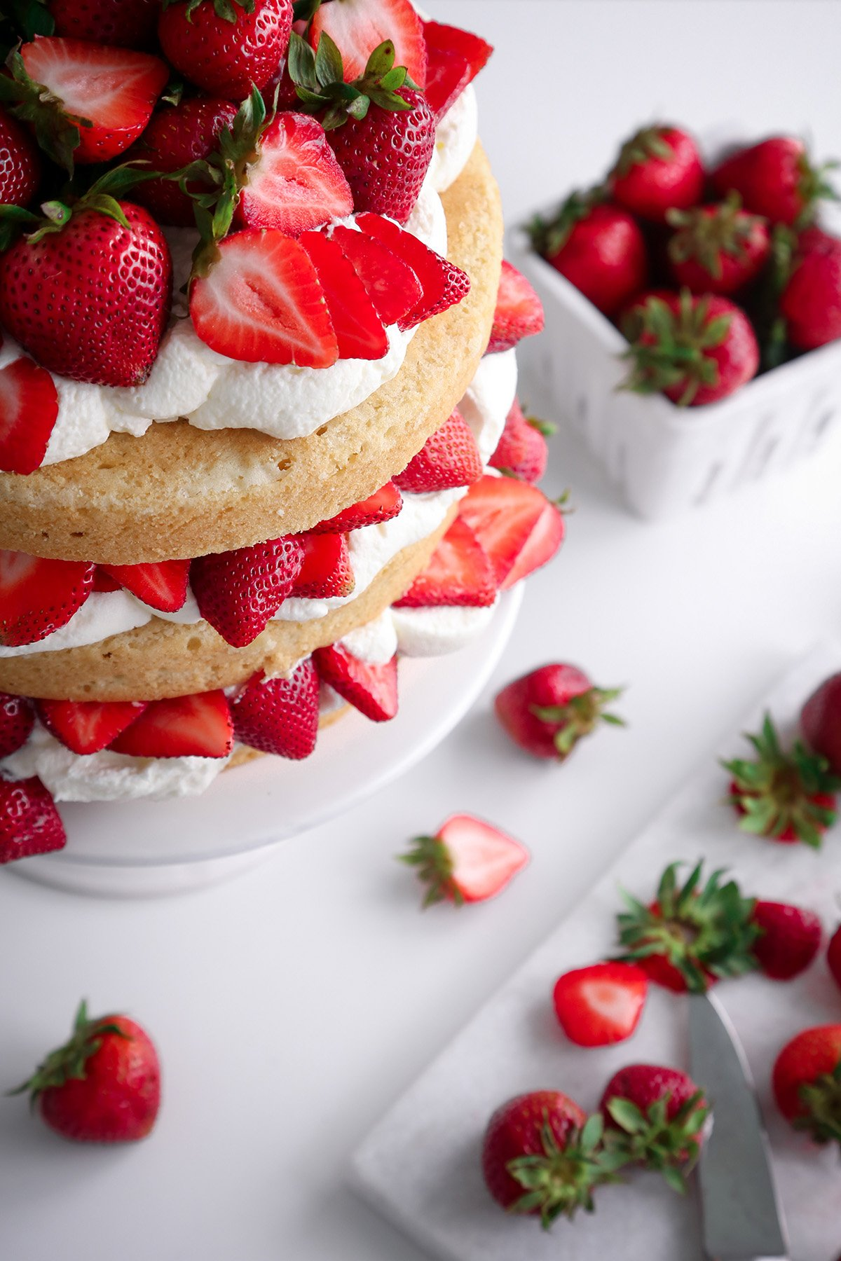 Strawberry Shortcake Cake | Vegan friendly with gluten-free option