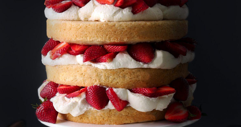 Magnificent Strawberry Shortcake Cake Wife Mama Foodie Personalised Birthday Cards Veneteletsinfo