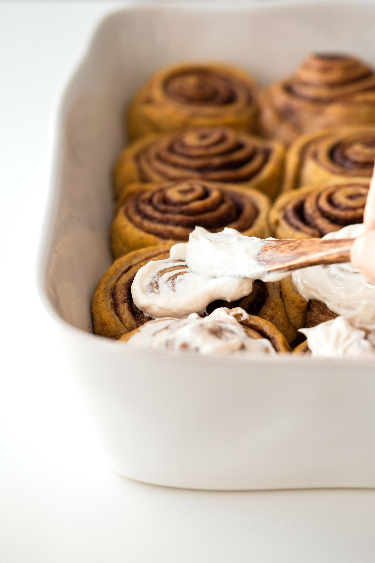 Pumpkin Cinnamon Rolls | Free of dairy, eggs, and refined sugar.