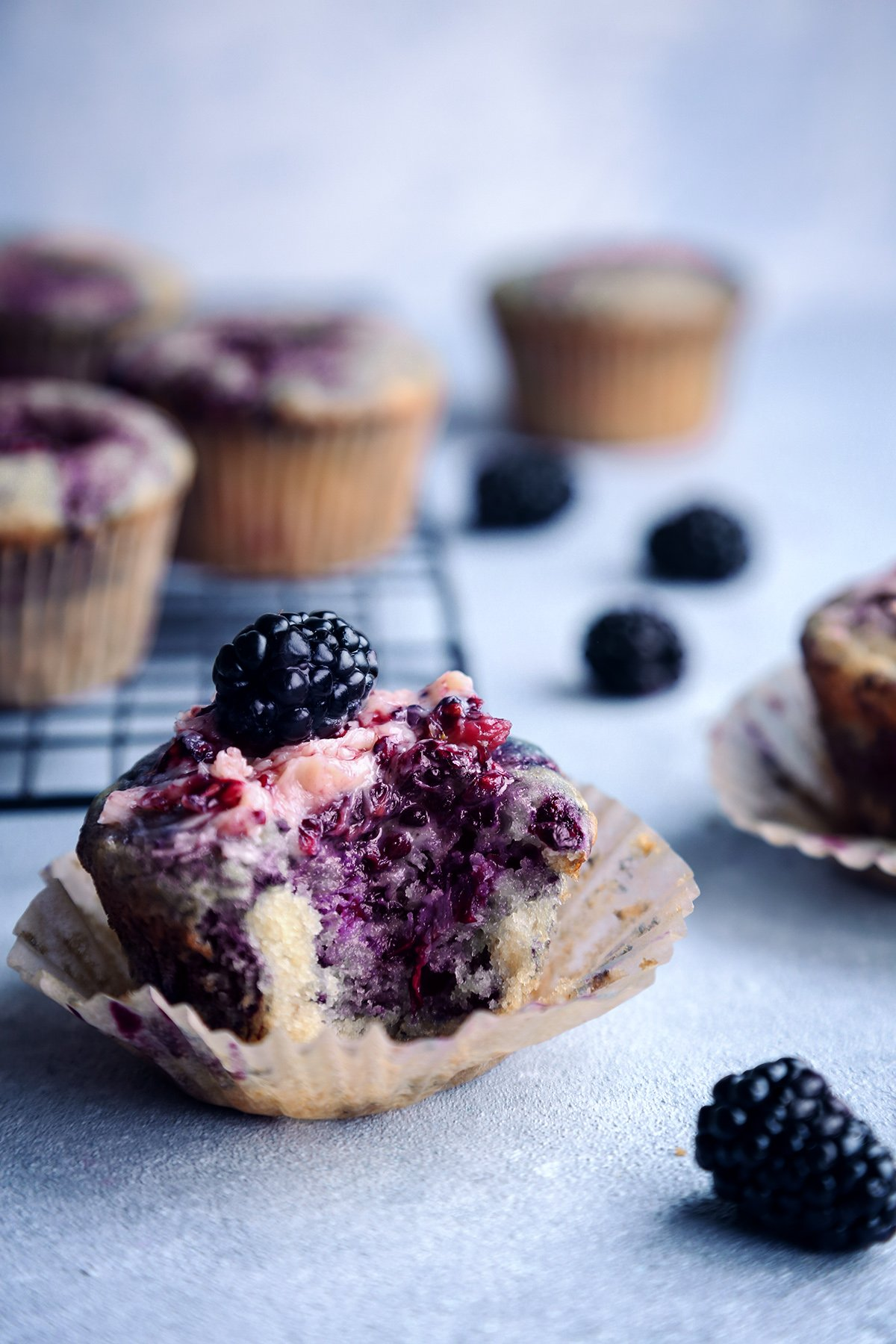 Lemon Blackberry Muffins | Vegan with Gluten-Free Option