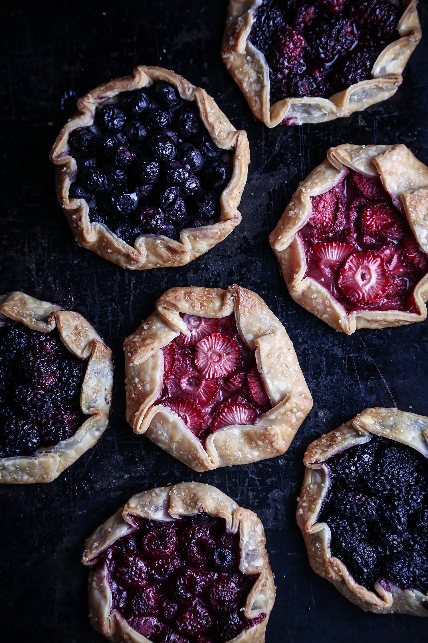 Mini Berry Galettes | Vegan Friendly, Refined Sugar Free with Gluten Free Option