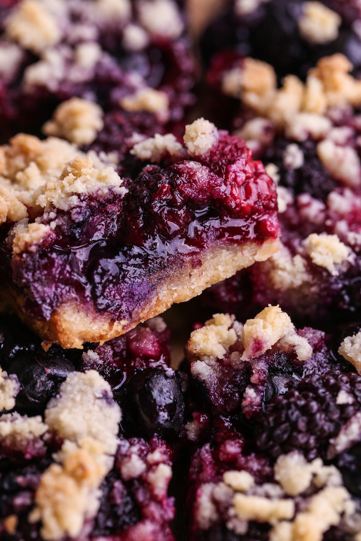 Mixed Berry Almond Crumb Bars | Vegan and Paleo Friendly