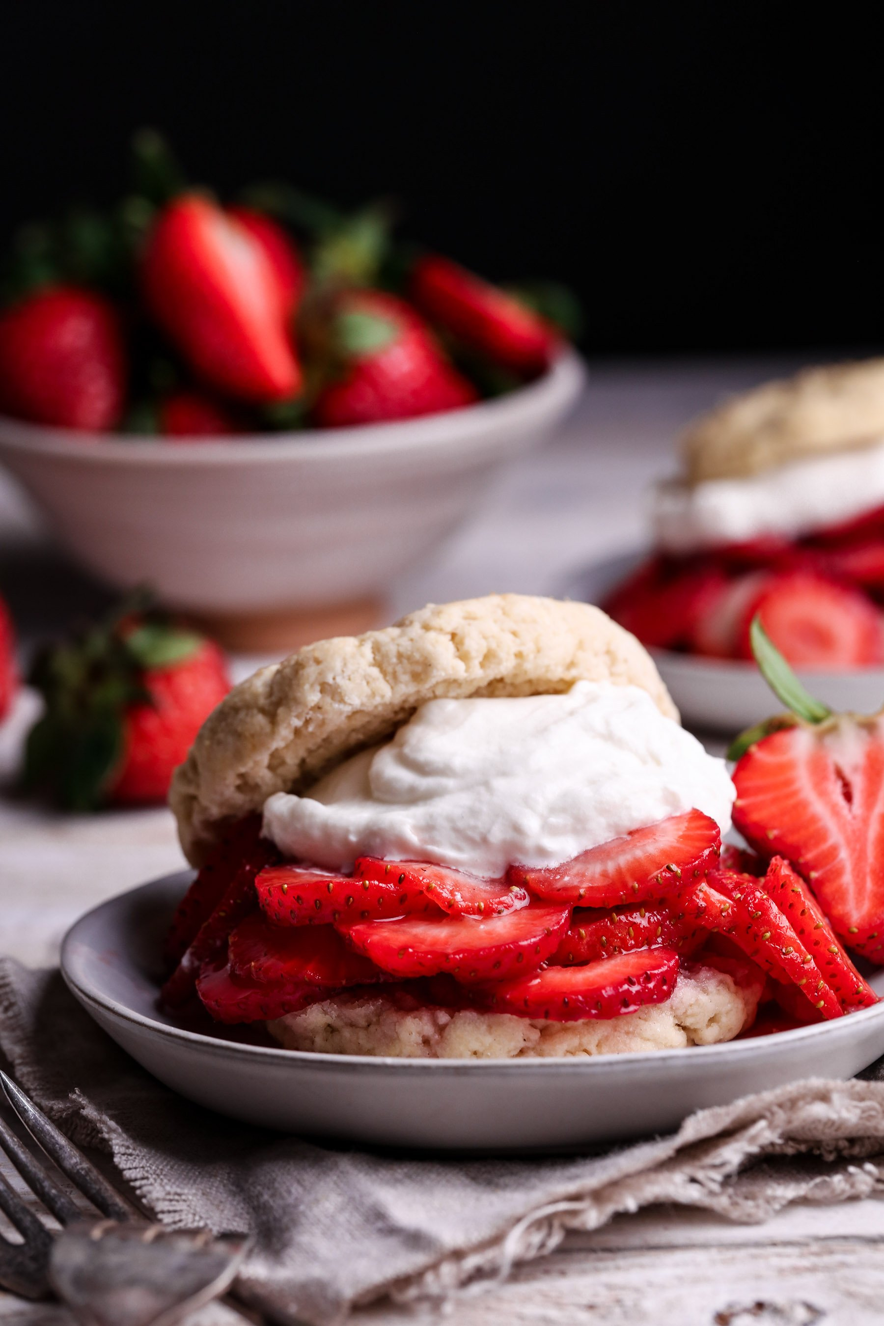 Healthier Strawberry Shortcake