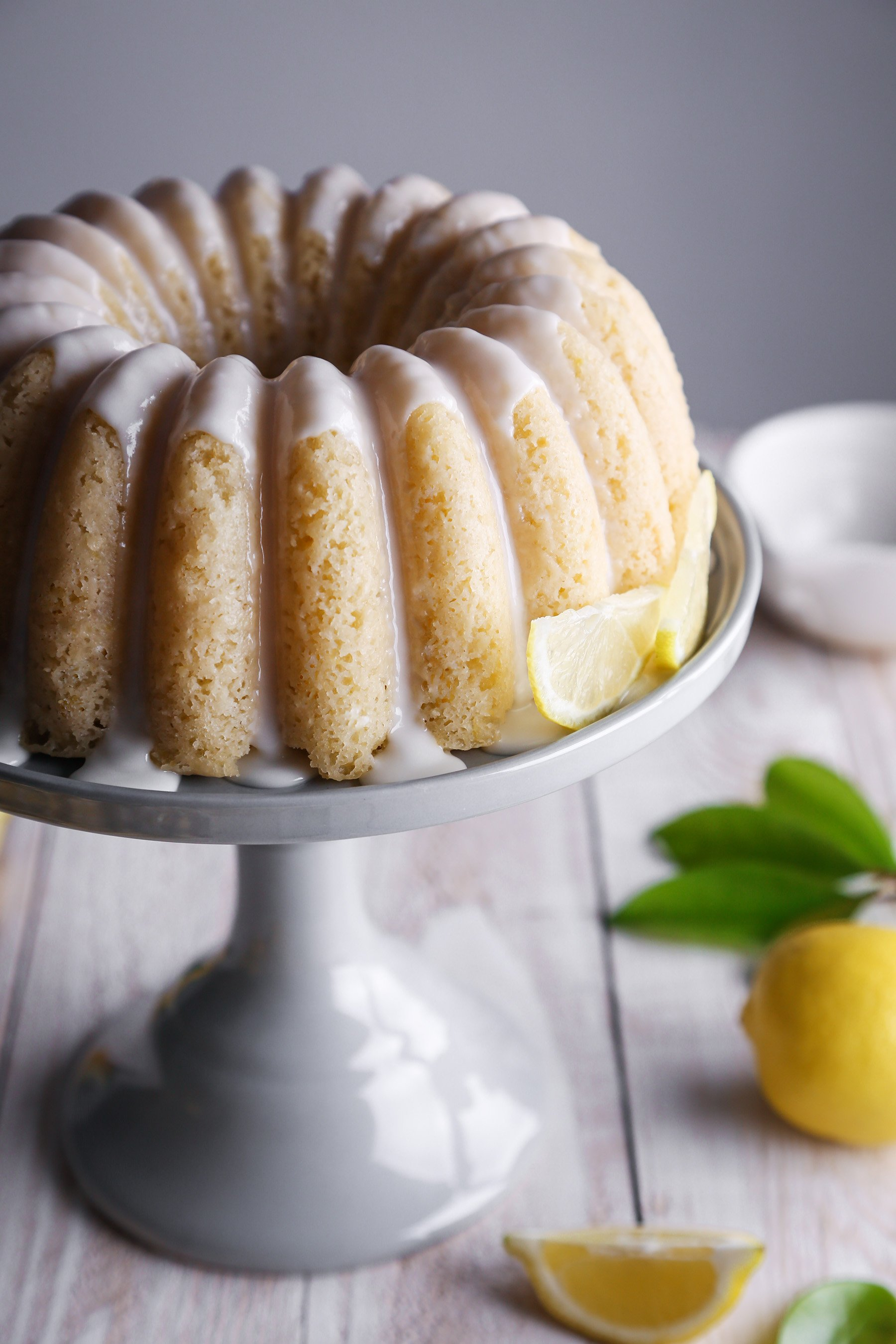 Lemon Yogurt Bundt Cake | Vegan friendly with gluten and refined sugar free options.