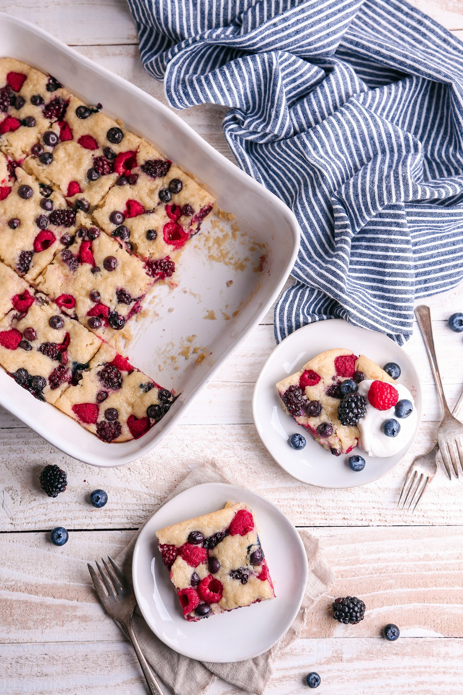 Easy Berry Sheet Cake | Vegan with gluten free option.