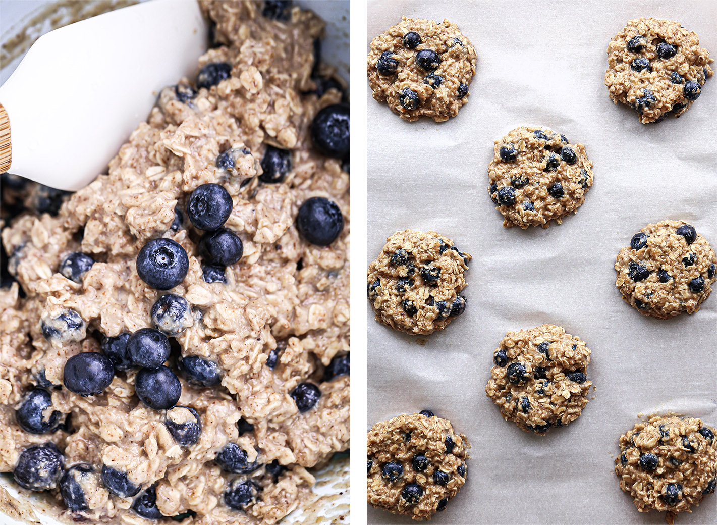 Blueberry Breakfast Cookies | Vegan, plus gluten, oil, and refined sugar free.