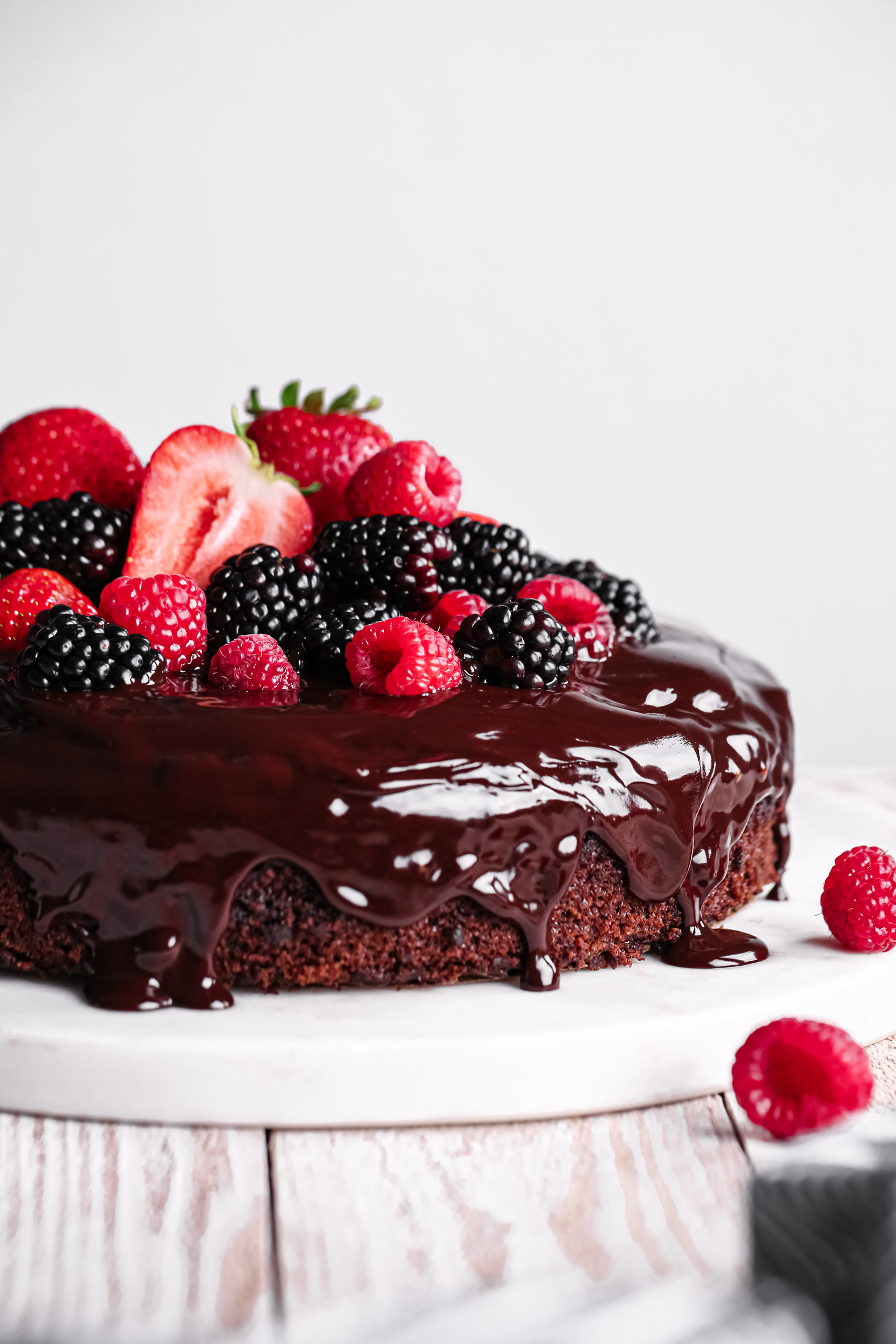 Simple Chocolate Fudge Cake | Vegan friendly with gluten free option.