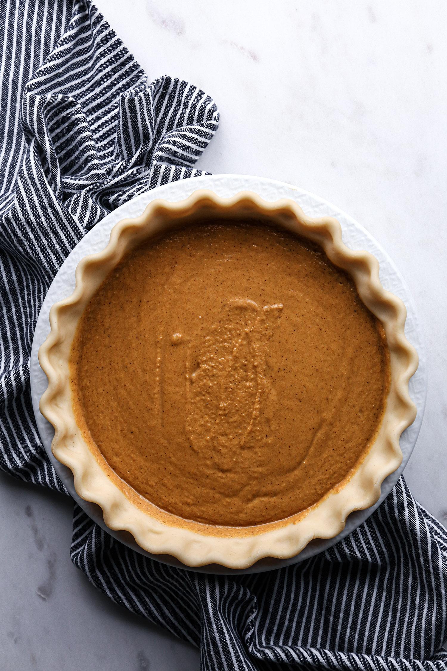 Vegan Pumpkin Pie | Free of dairy and refined sugar with gluten free option.