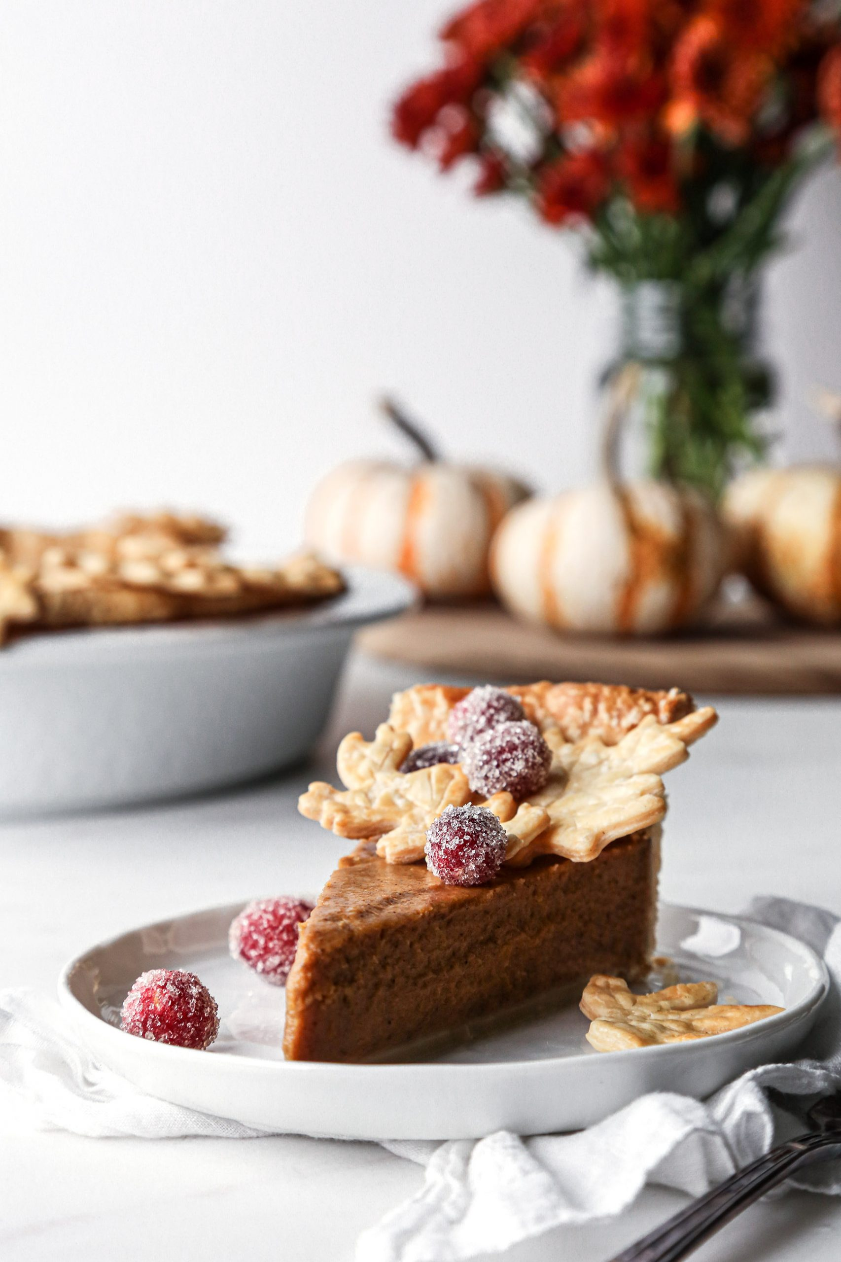 Vegan Pumpkin Pie | Free of dairy and refined sugar with gluten free option.