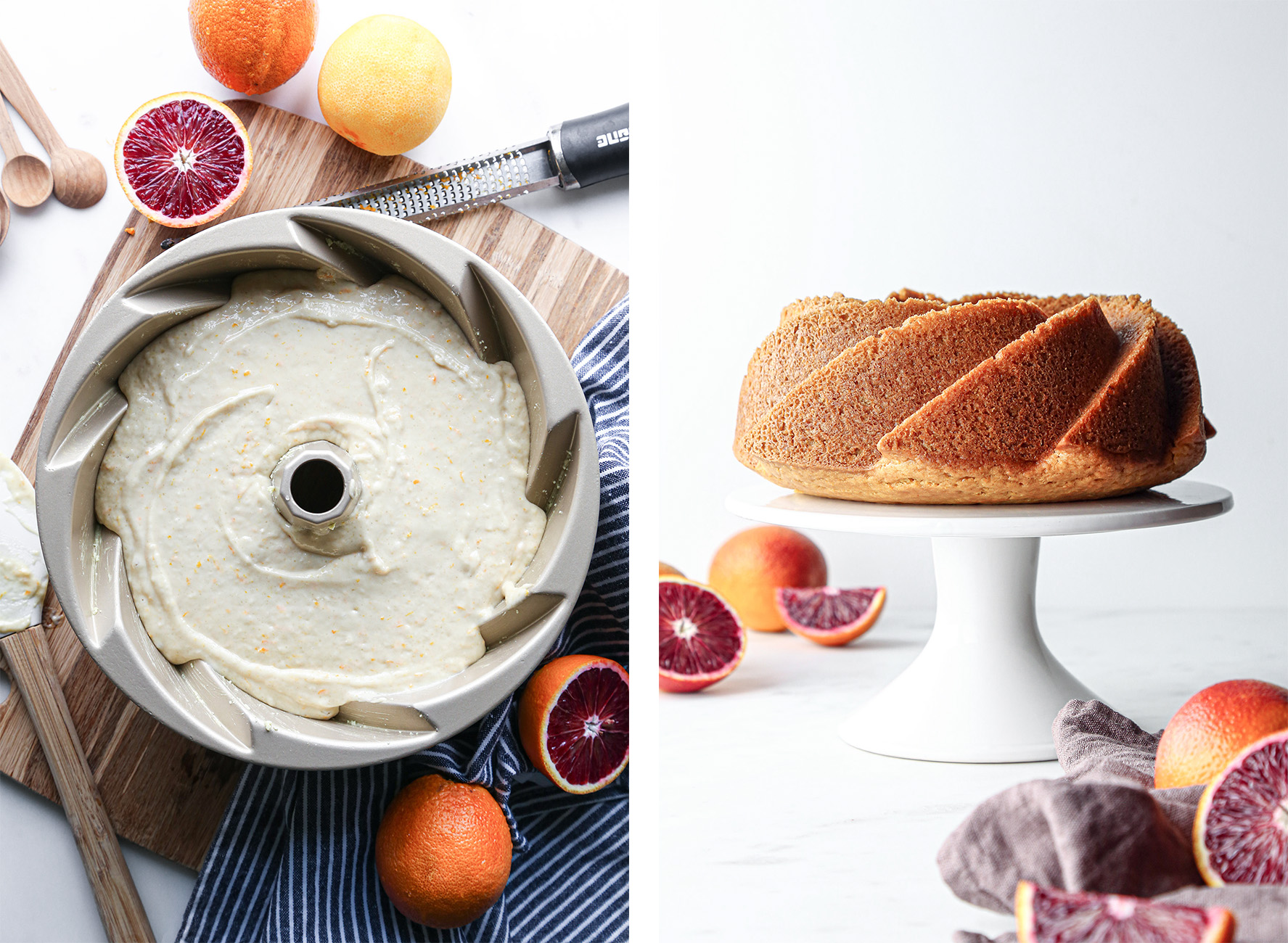 Blood Orange Bundt Cake | Vegan with gluten free option.