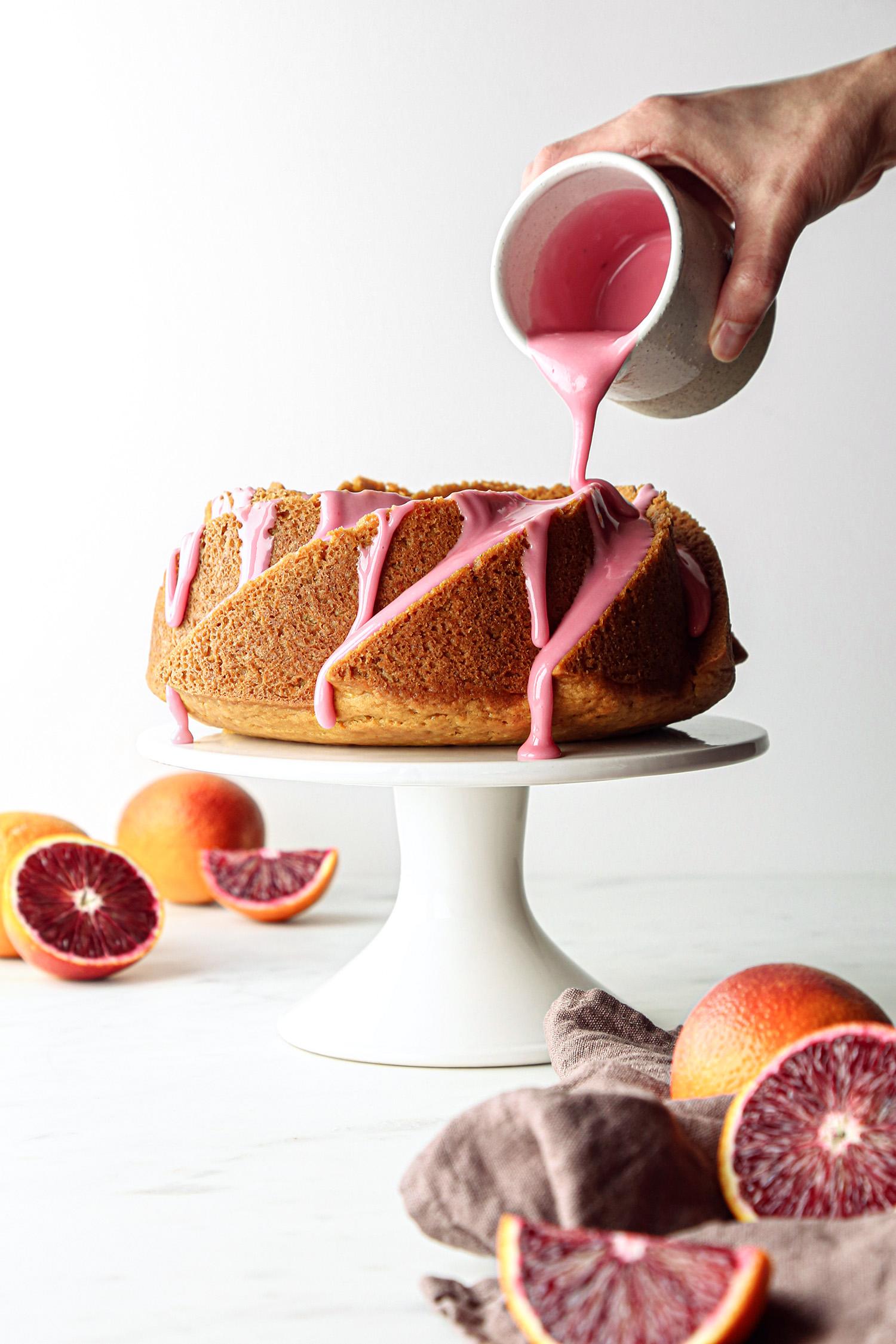 Blood Orange Bundt Cake with Blood Orange Glaze