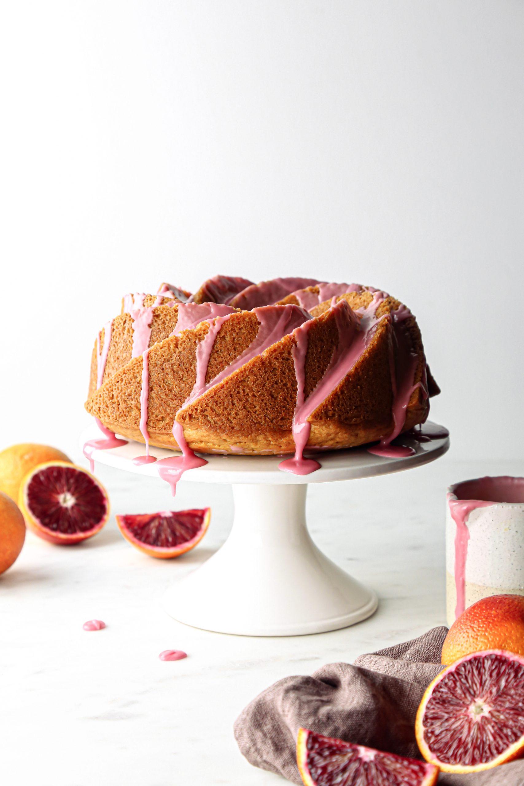 Blood Orange Bundt Cake | Vegan with refined sugar free and gluten free option.