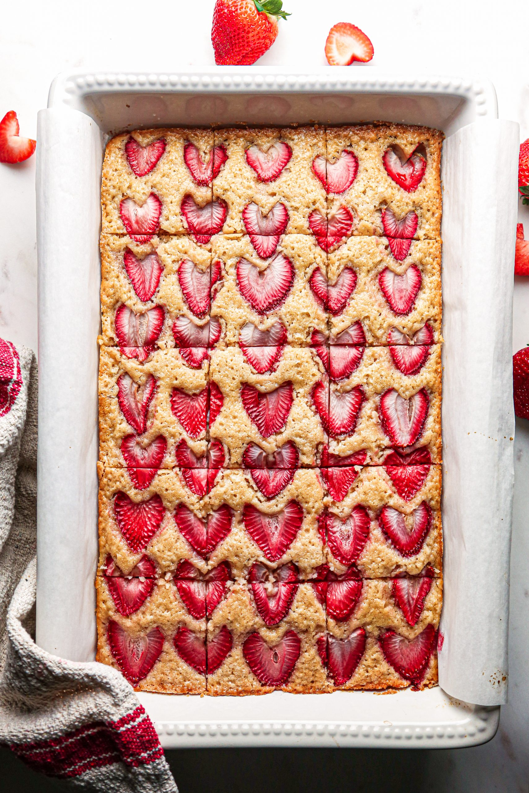 Vegan Strawberry Snack Cake | Gluten-Free option included