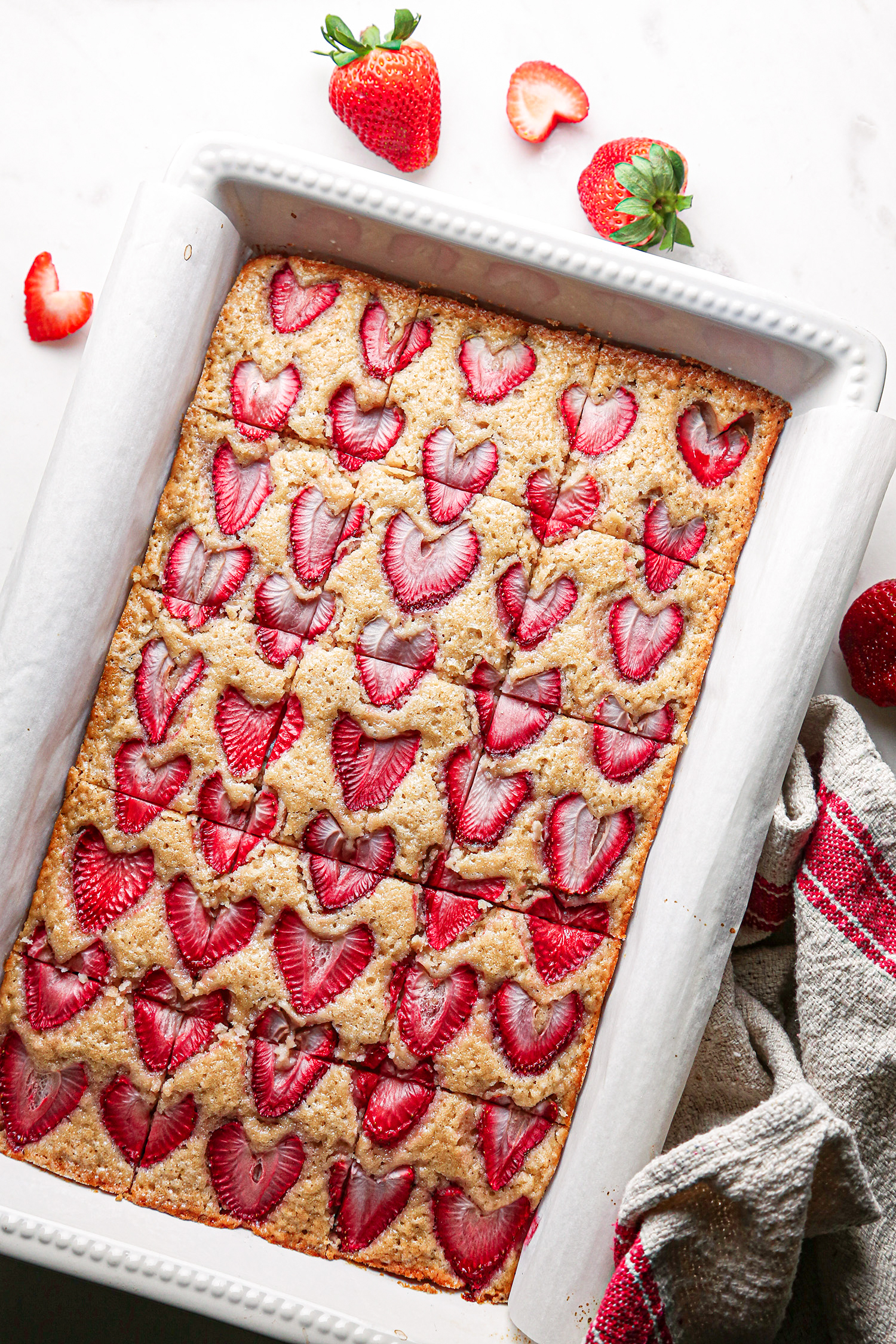 Simple Strawberry Snack Cake | Vegan with Gluten-Free option