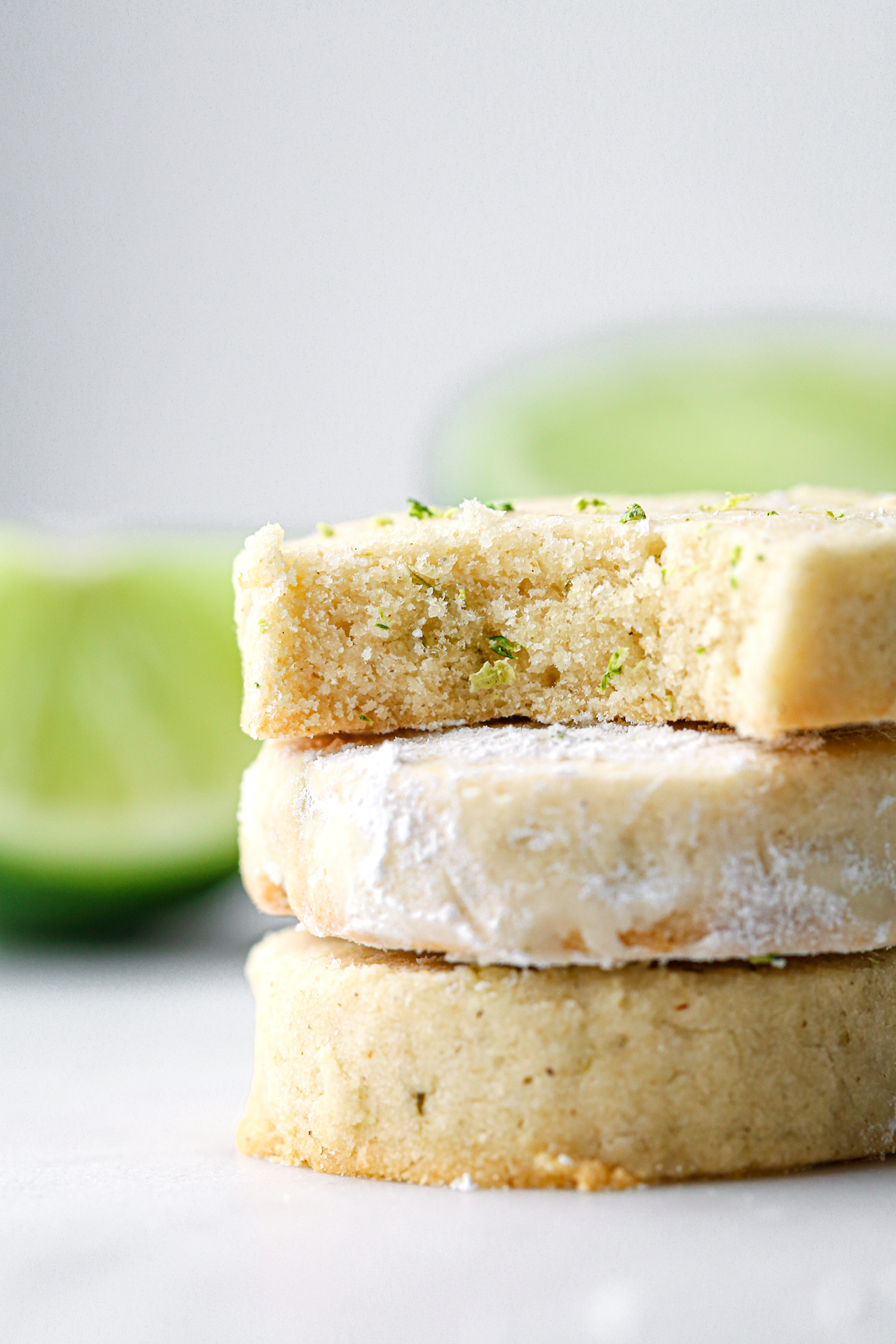 Lime Shortbread Cookie Bite | Vegan friendly with gluten and refined sugar free option