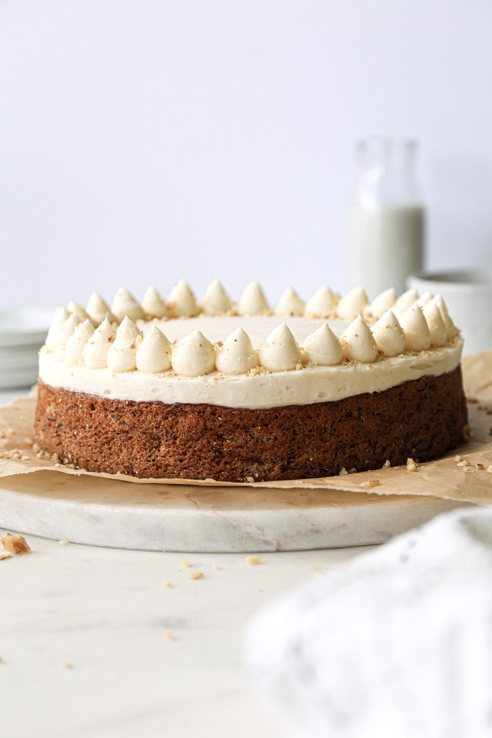 Easy Banana Cake with Buttercream | Wife Mama Foodie
