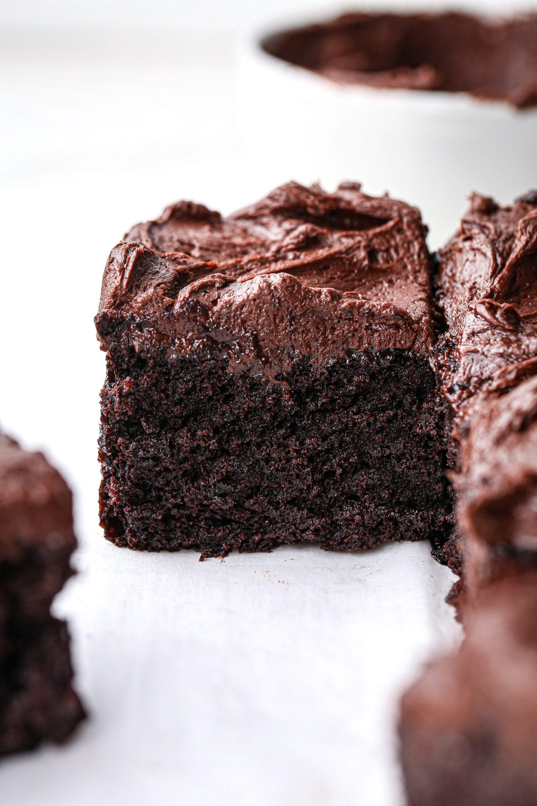 Chocolate Snack Cake with Chocolate Buttercream | Vegan with Gluten Free and Refined Sugar Free Option