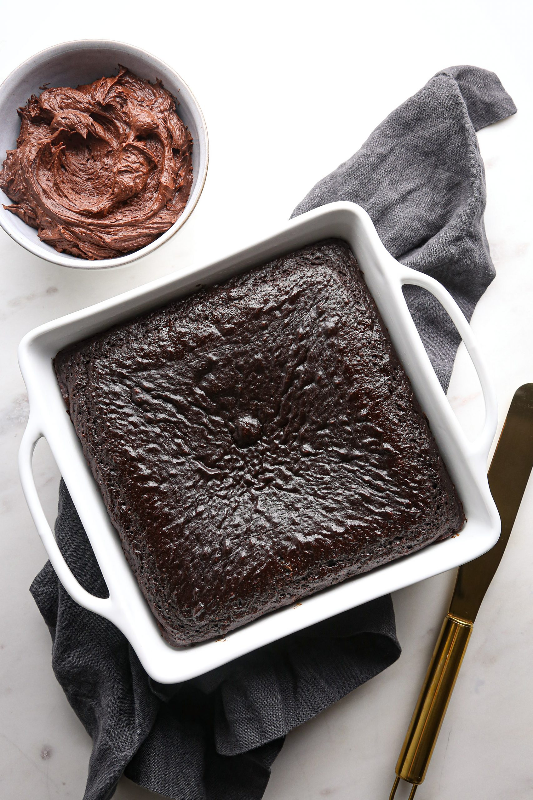 Chocolate Snack Cake with Chocolate Buttercream
