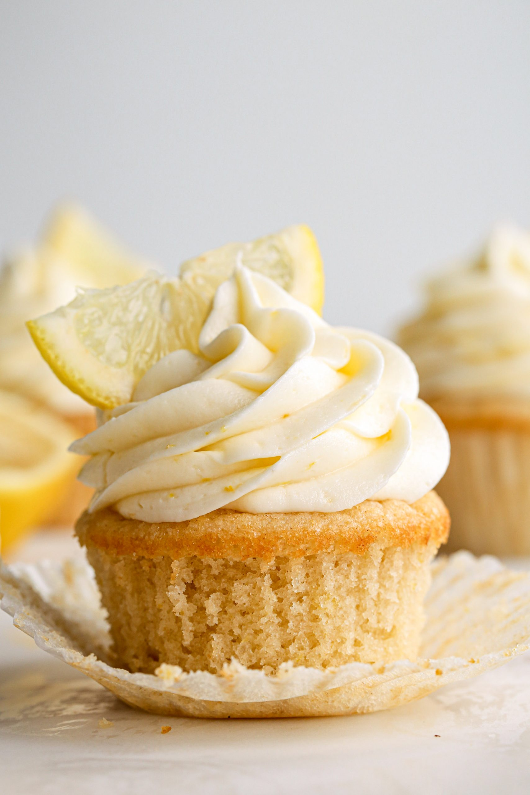 Lemon Cupcakes | Vegan friendly with gluten free option.